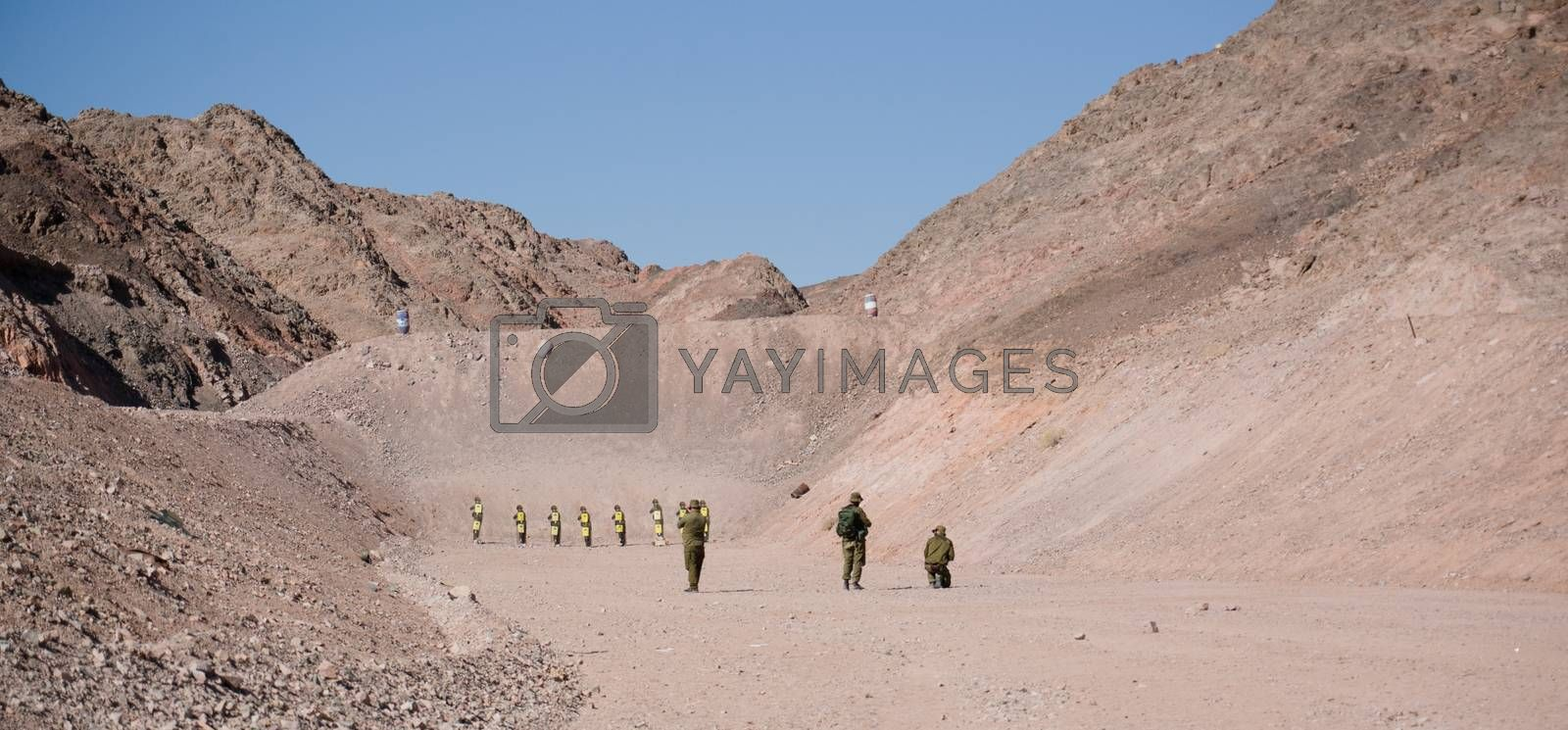 IDF military exercise in Israel war against terror