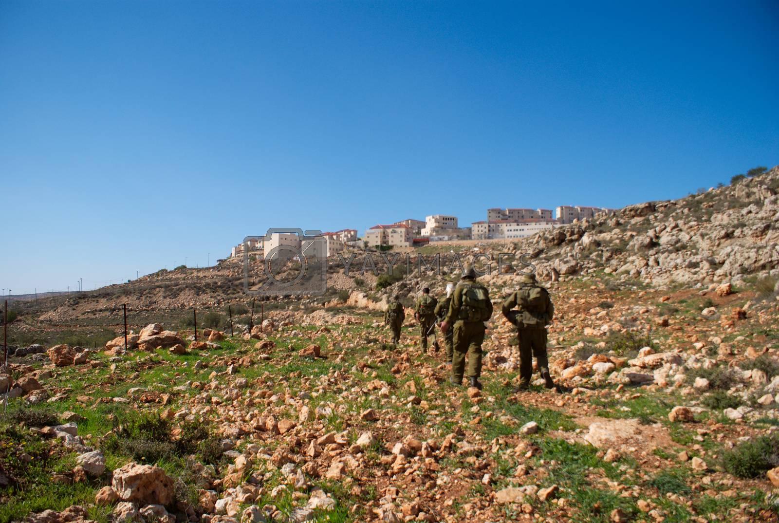 Israeli soldier patrol in West Bank fight with terrorist
