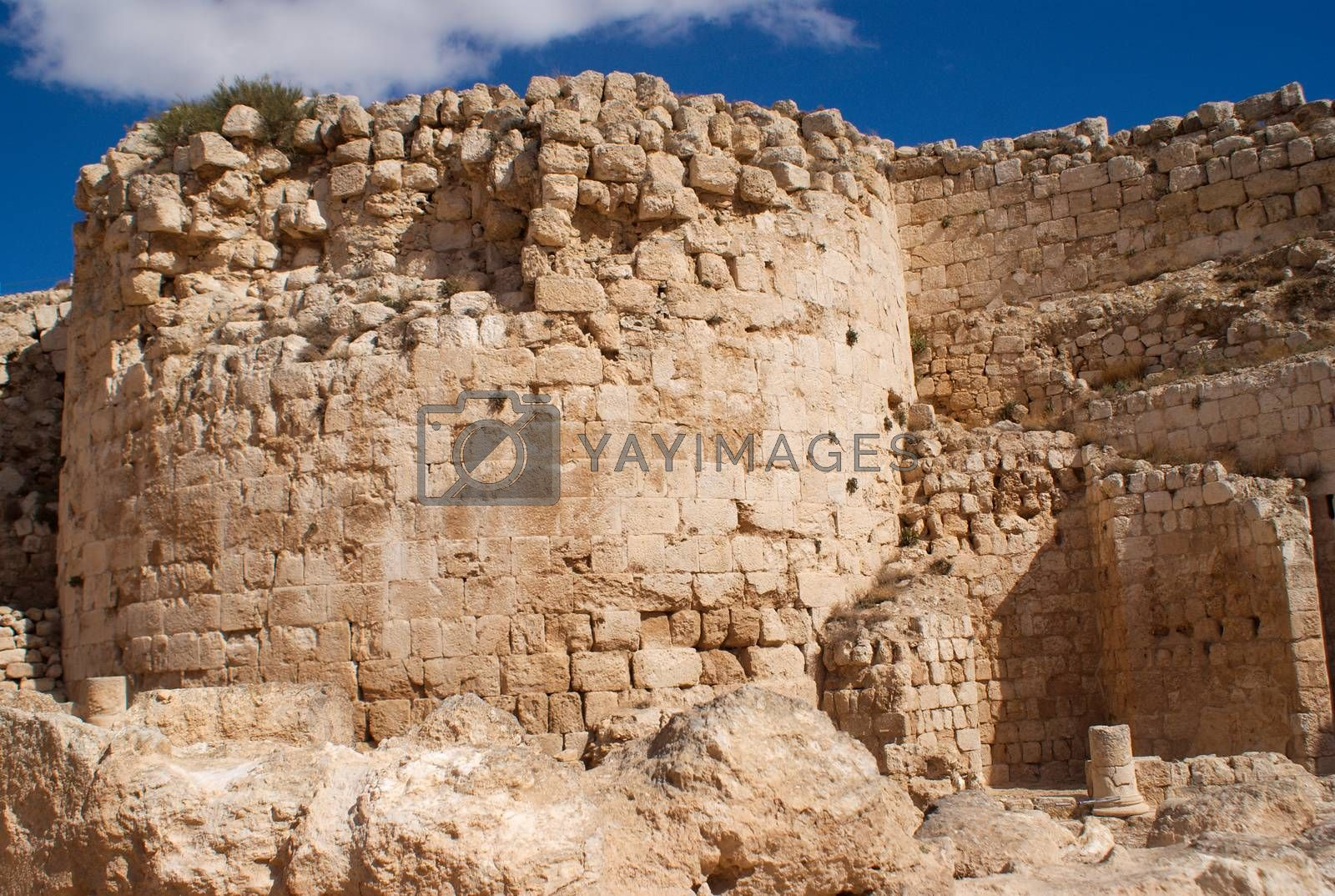 Herodion ruins in Israel by javax