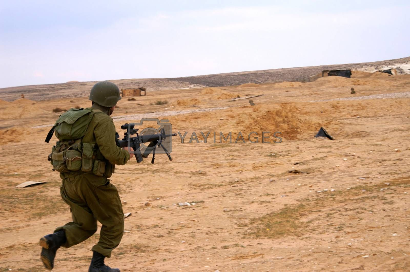 israeli soldiers attack - battle field - military exercise