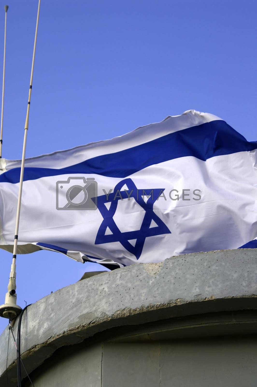 Israel state flag  by javax