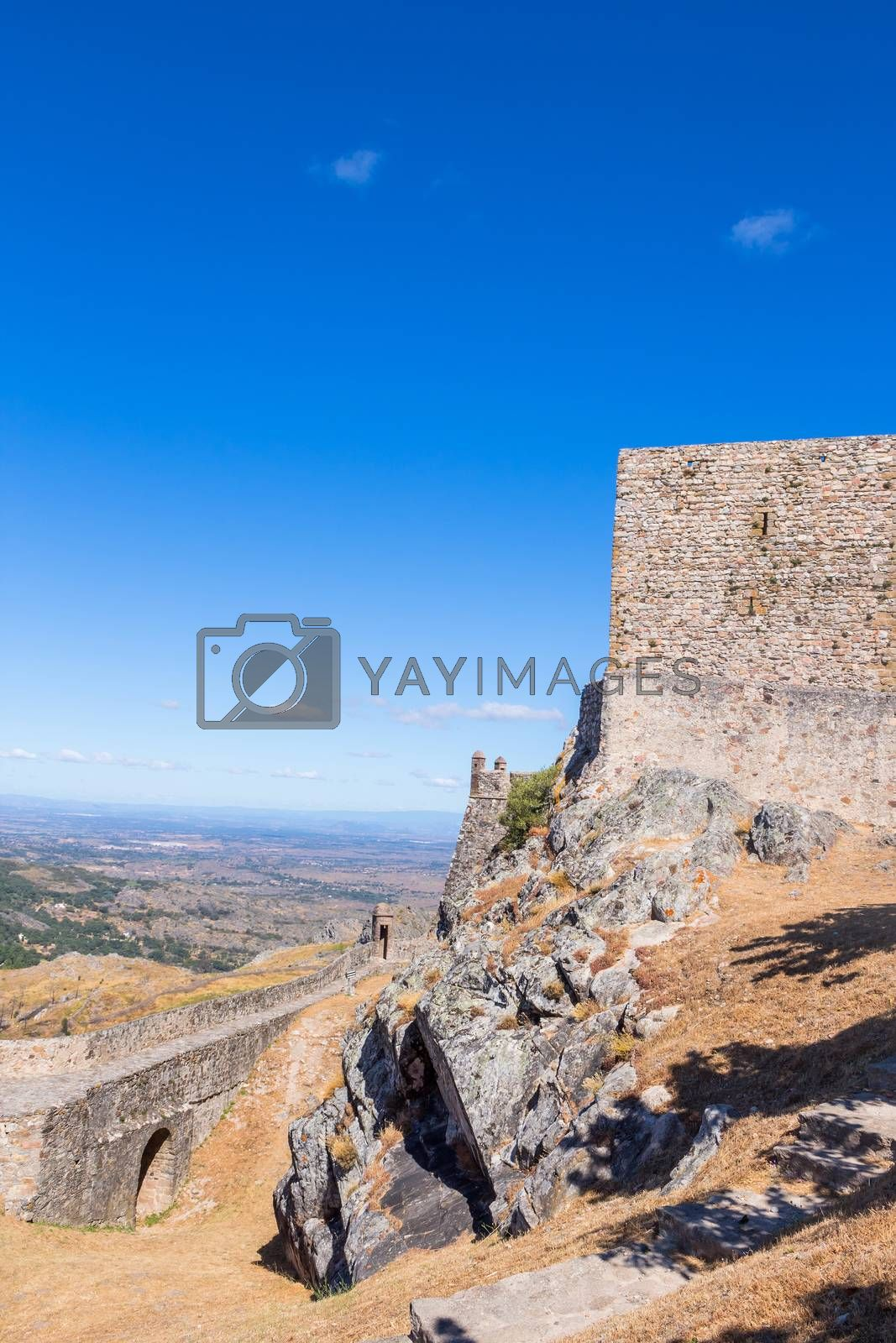 Royalty free image of Marvao castle on the top of a mountain by zittto
