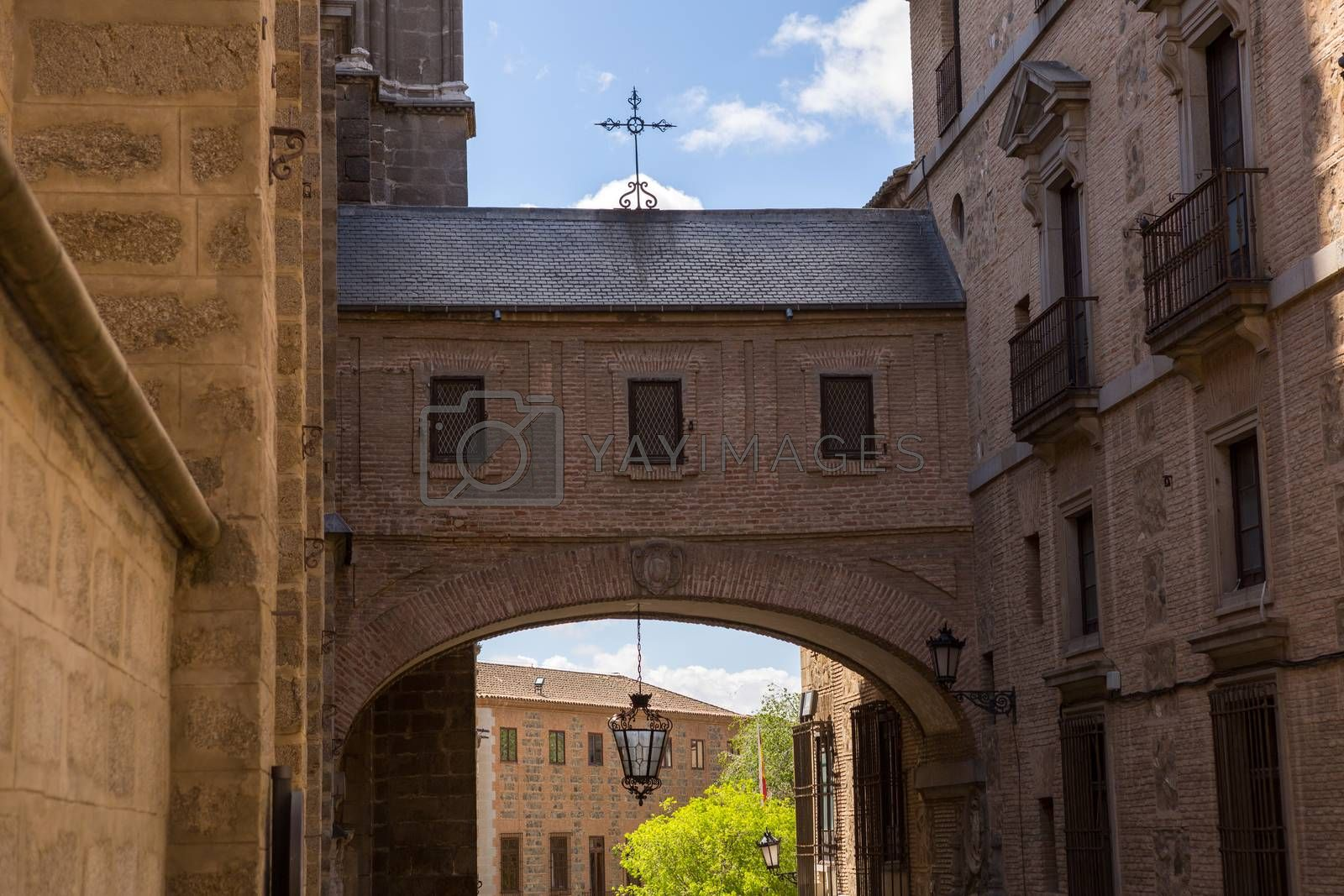 Toledo Cathedral Arch in Castile La Mancha of Spain