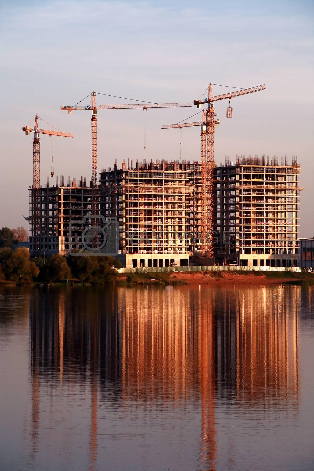 Royalty free image of Construction Near River by kvkirillov