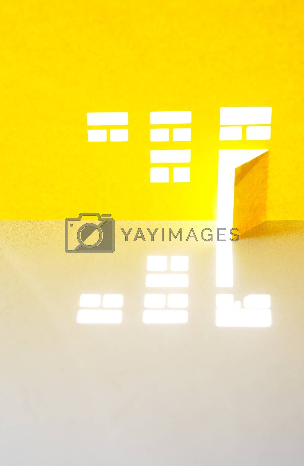 Royalty free image of Yellow Paper House by kvkirillov