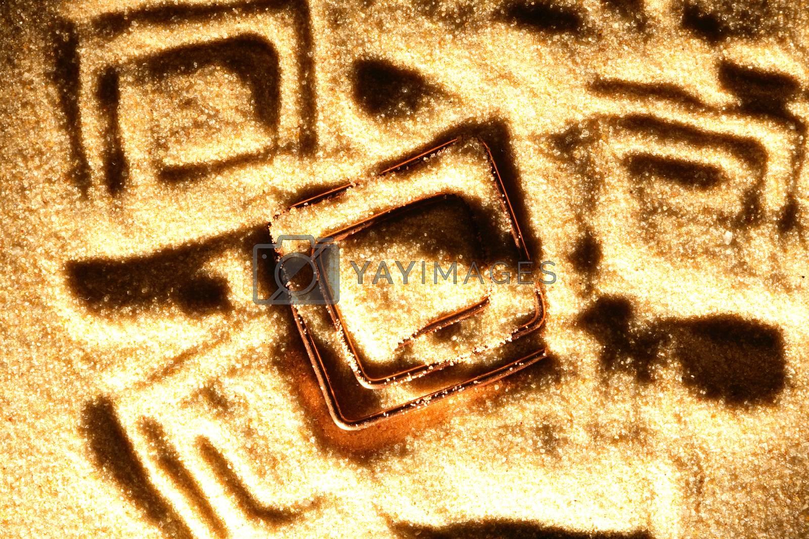 Royalty free image of Symbol On Sand by kvkirillov