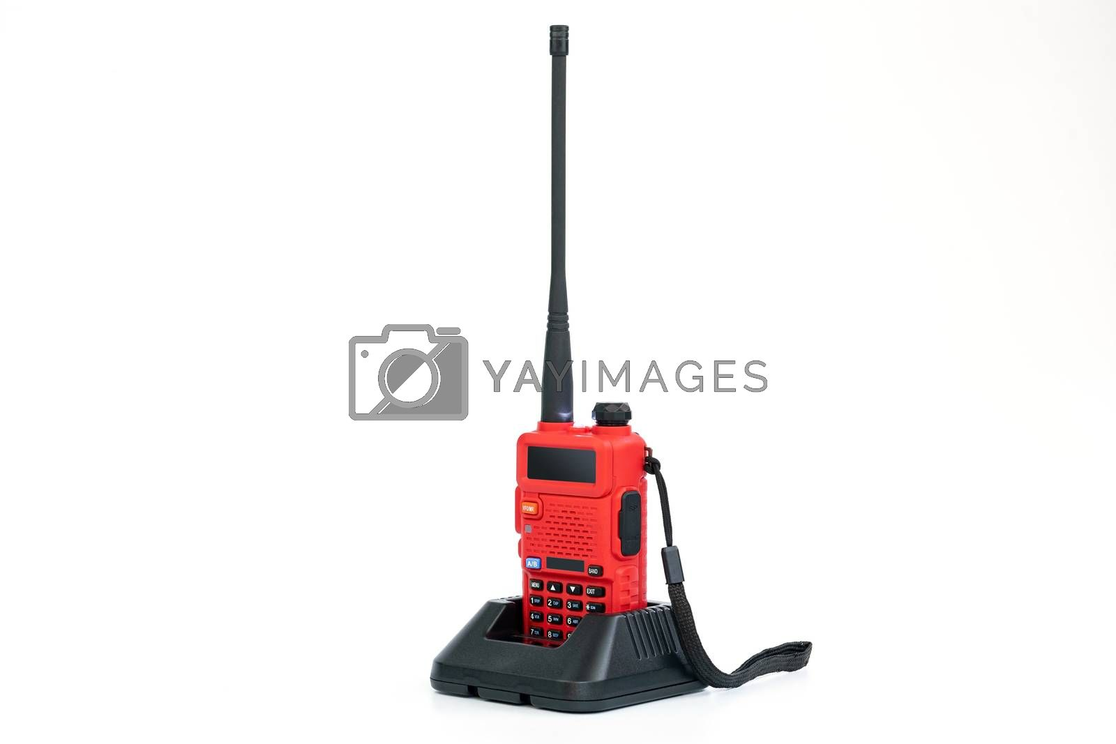 Radio communication for general use in various industries such as Security, construction and remote communications isolated on white background.