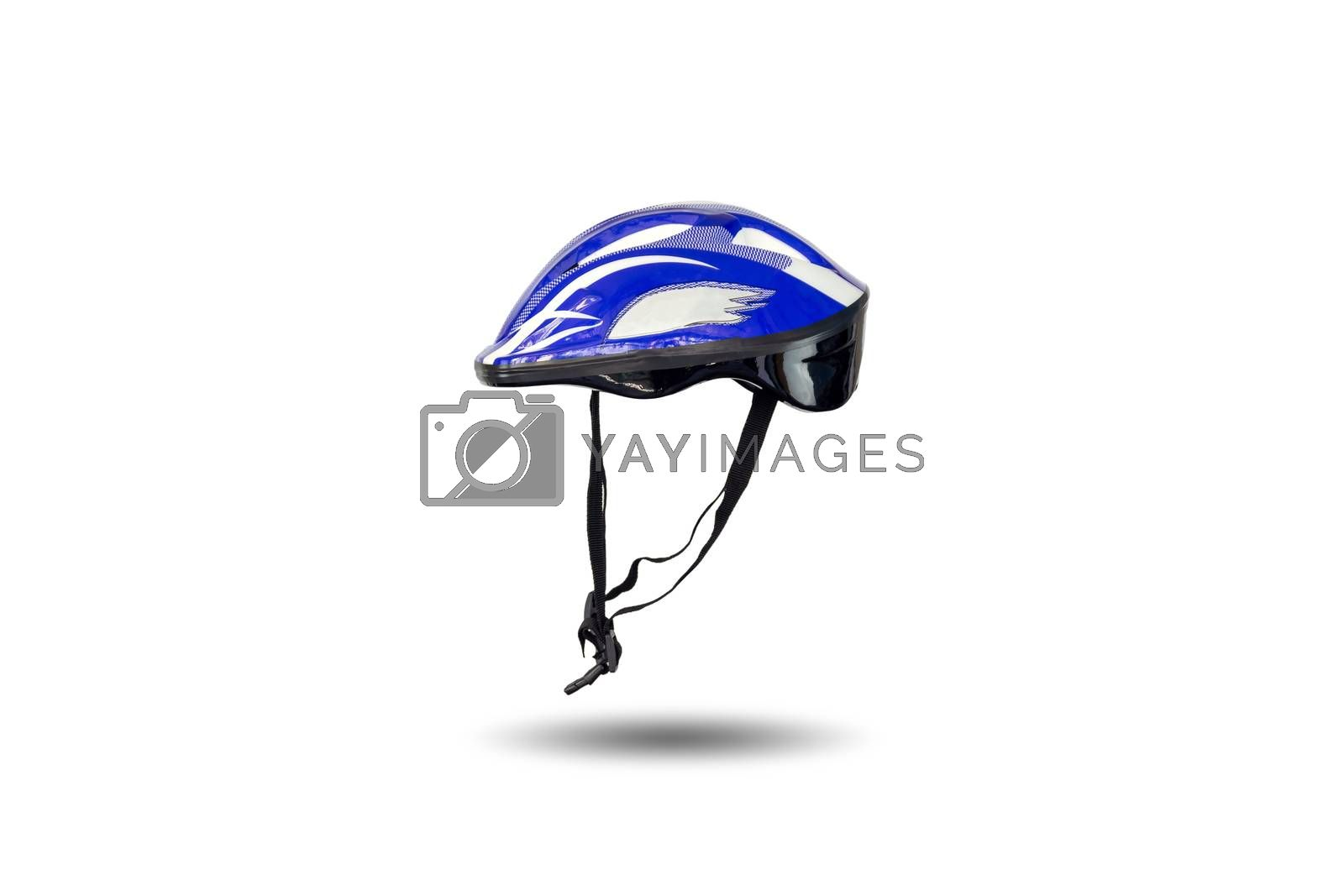 Safety helmet for cycling,  skateboard and inline skates isolated on white background.