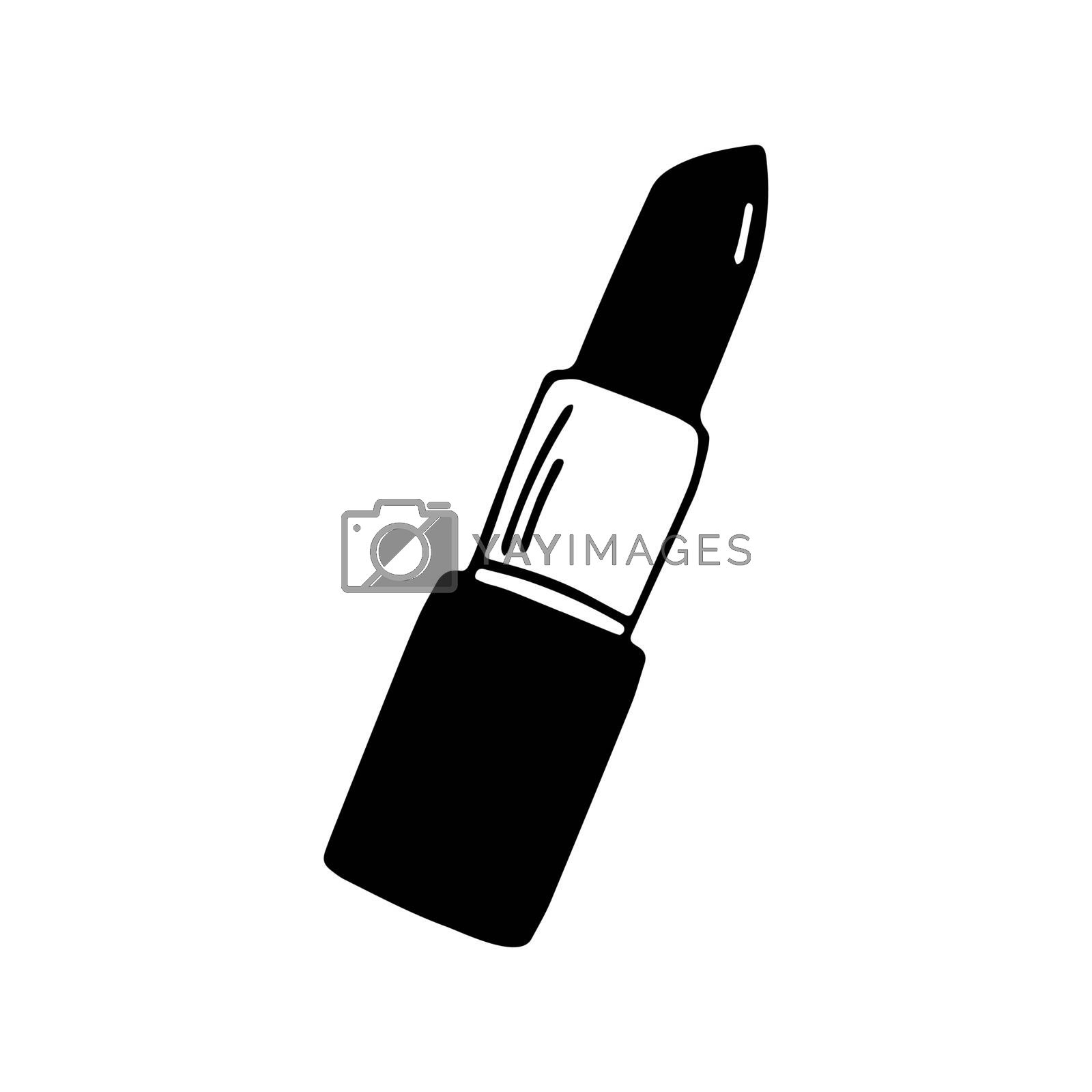 Cute hand drawn doodle lipstick icon. Isolated on white. Vector stock illustration.