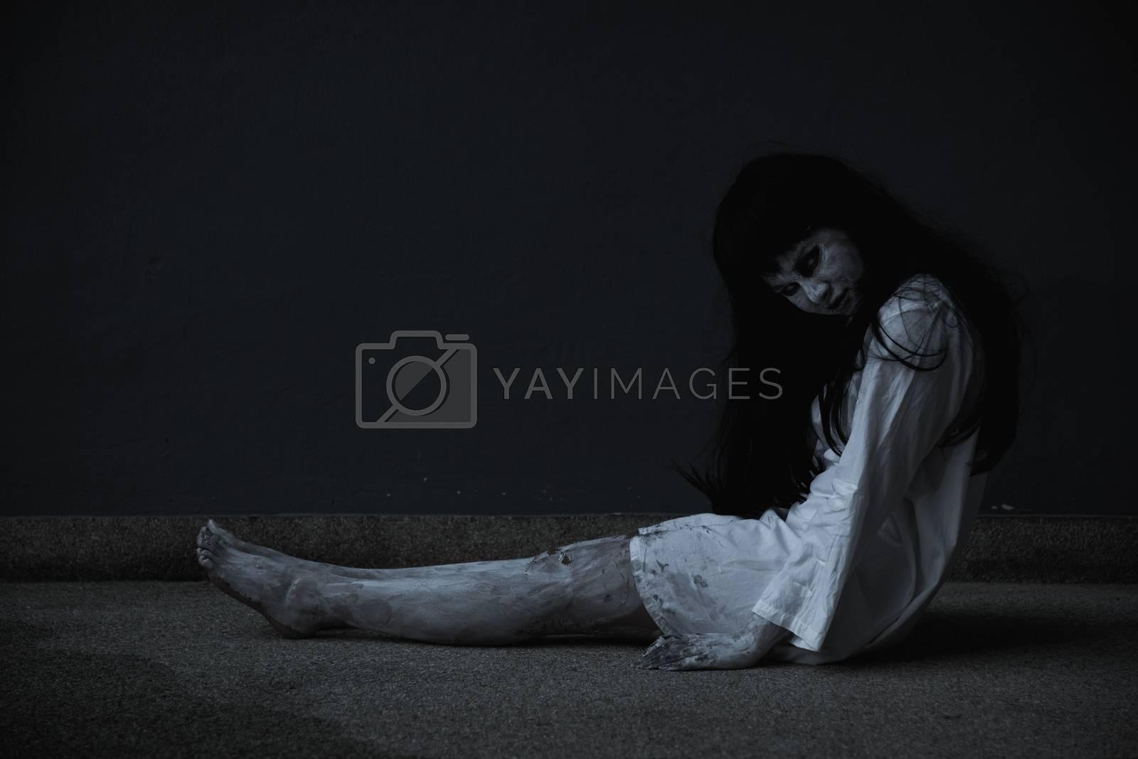 Woman ghost horror her dead and sleeping, by Sorapop