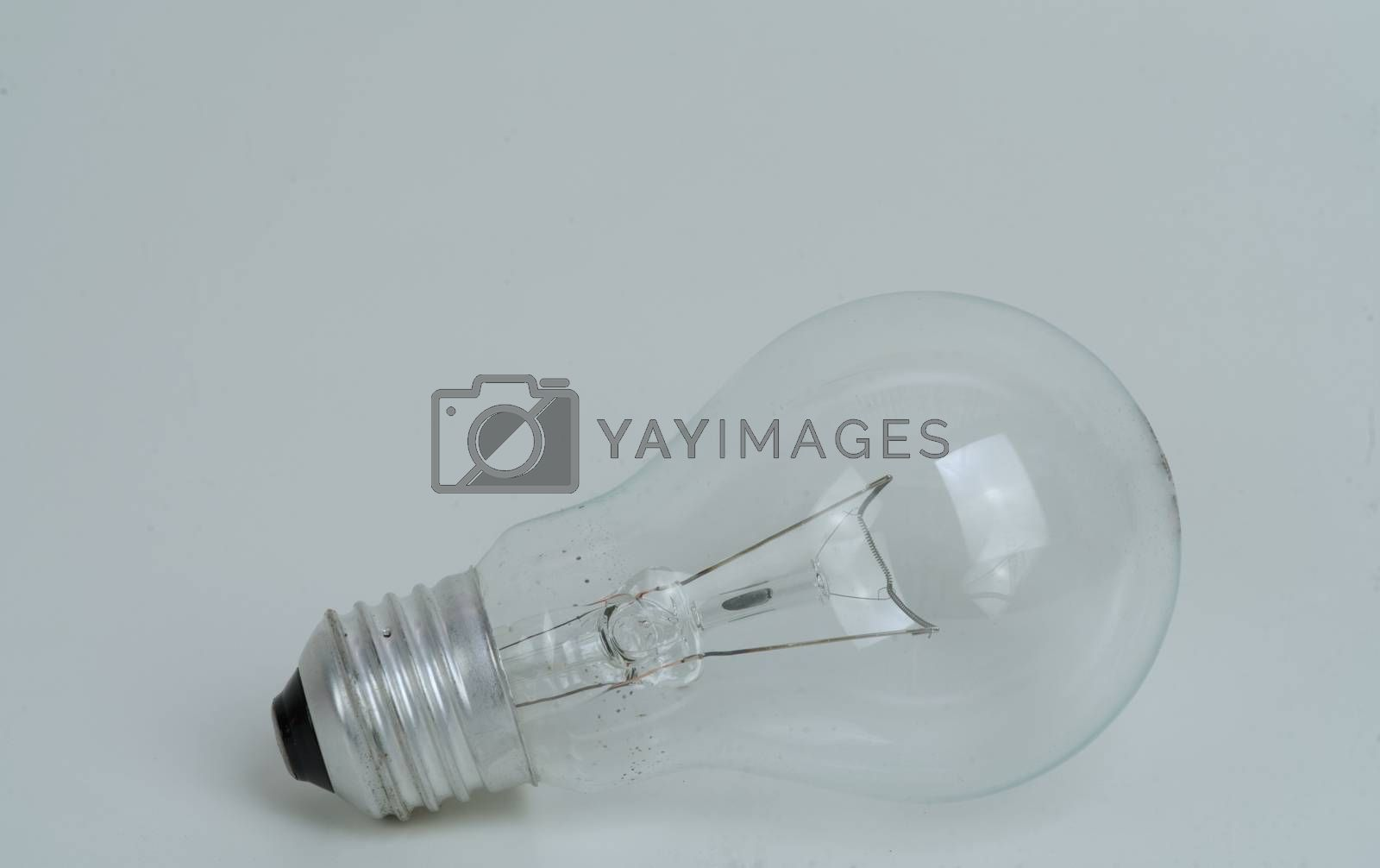 The Abstract previously used the light bulb concept on white isolated background.