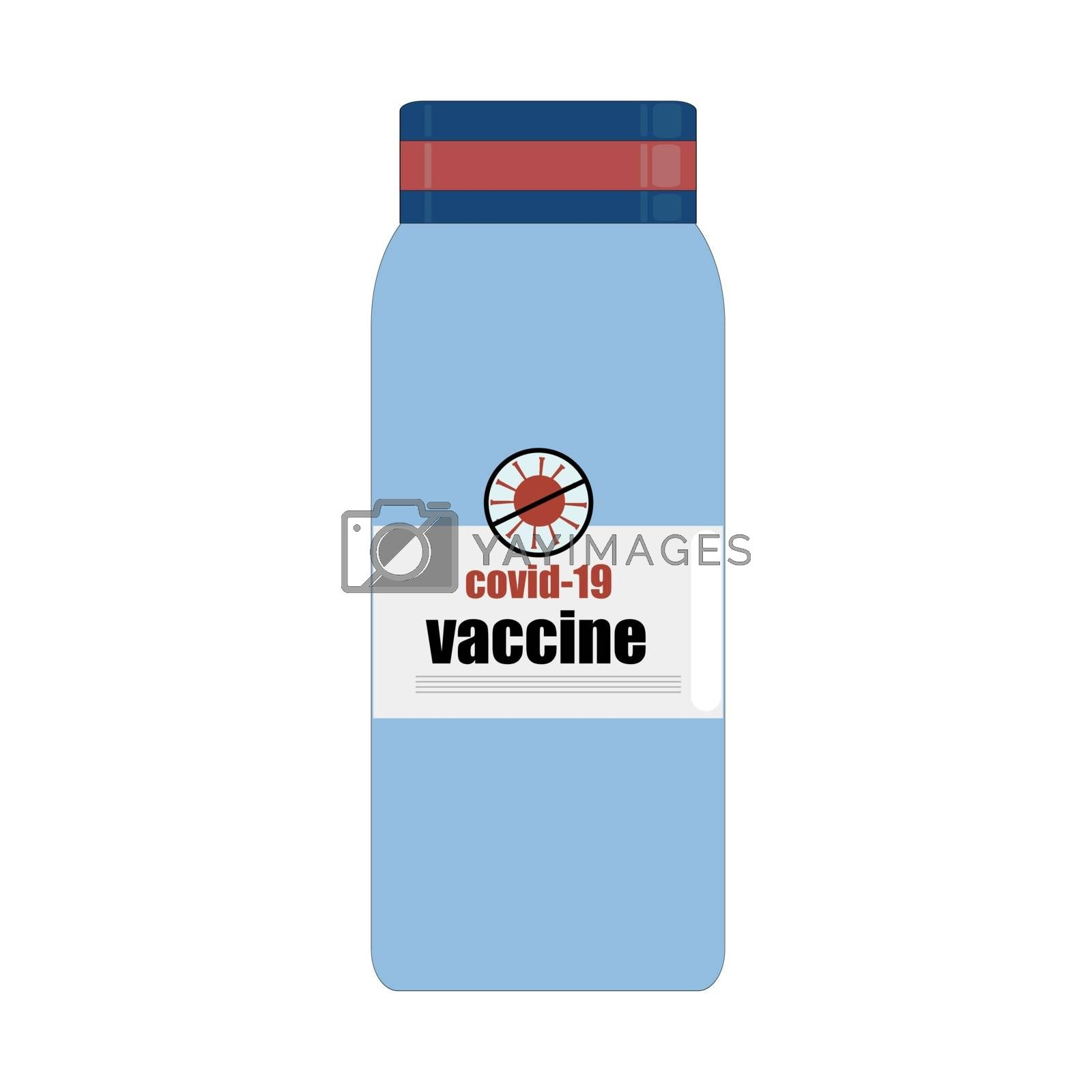 silhouette vaccine icon. ampoule of coronavirus vaccine. Close up of test tube with COVID-19 blood sample. Laboratory sample in a glass test tube. An infectious pandemic. Vector design. by zaryov
