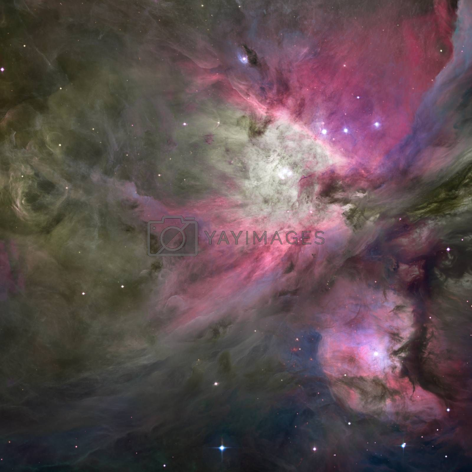 Galactic Space. Elements of this image furnished by NASA. 3D rendering