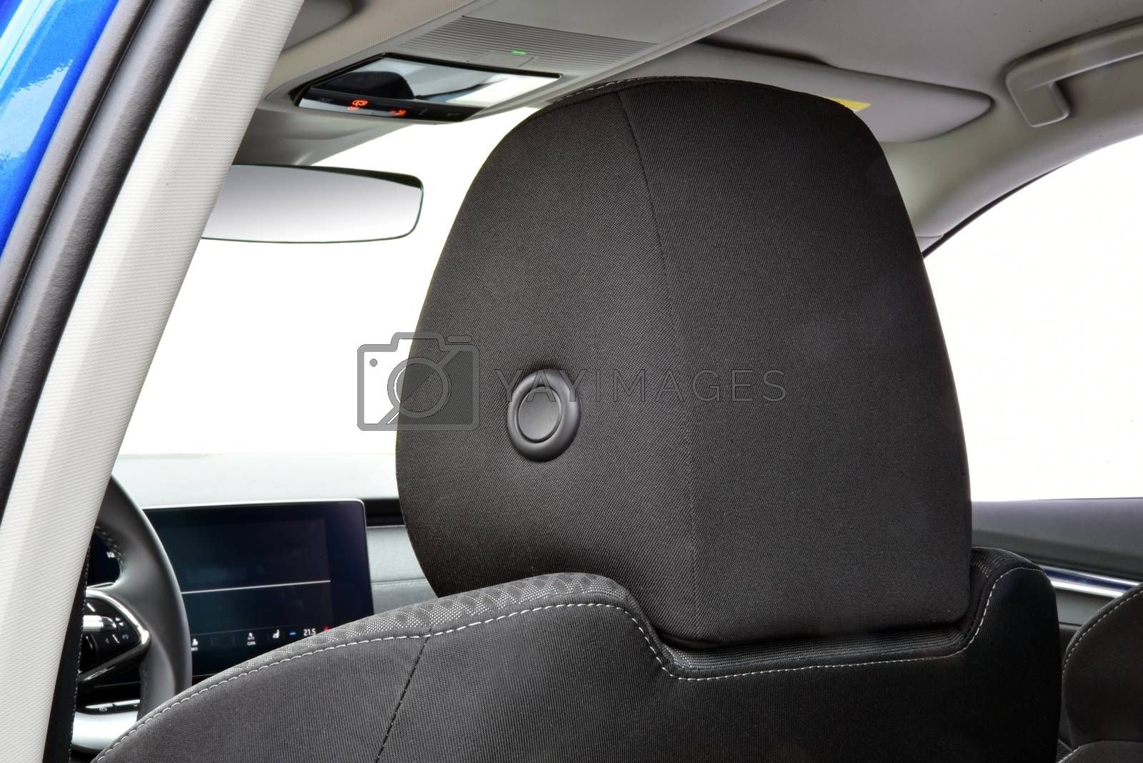 Royalty free image of Headrest on a car seat by aselsa