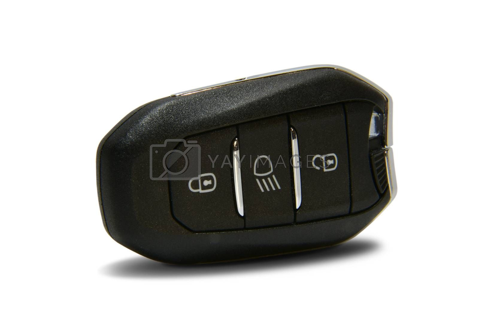Royalty free image of car key with remote central locking by aselsa