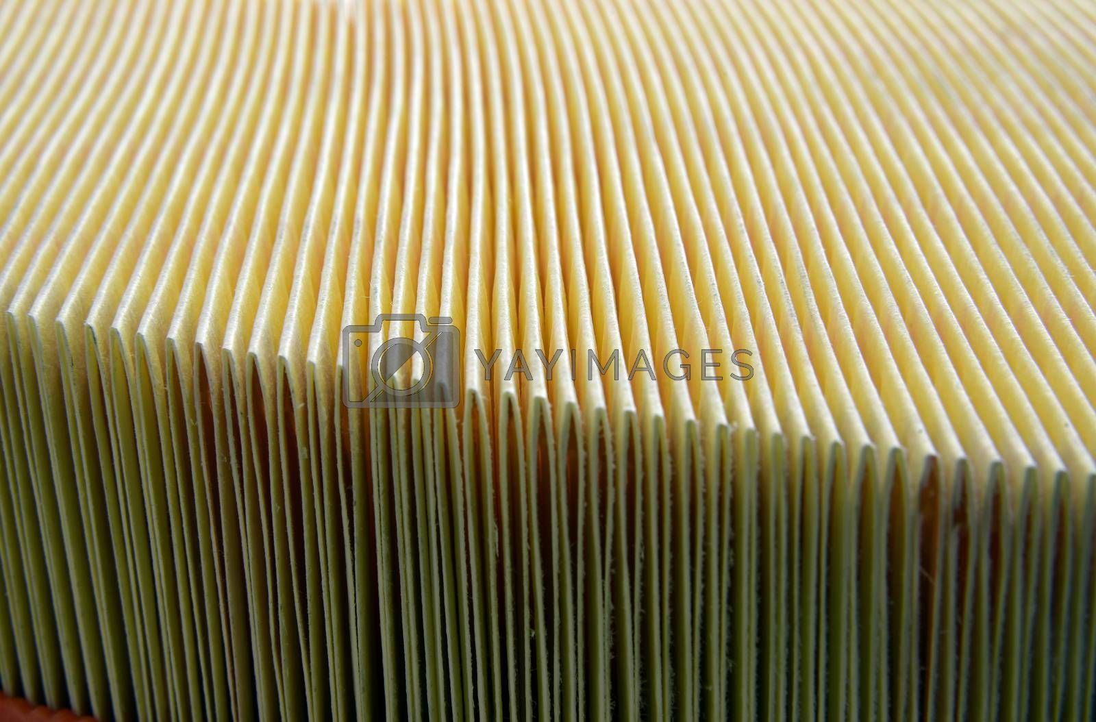 Royalty free image of Automotive air filter detail by aselsa