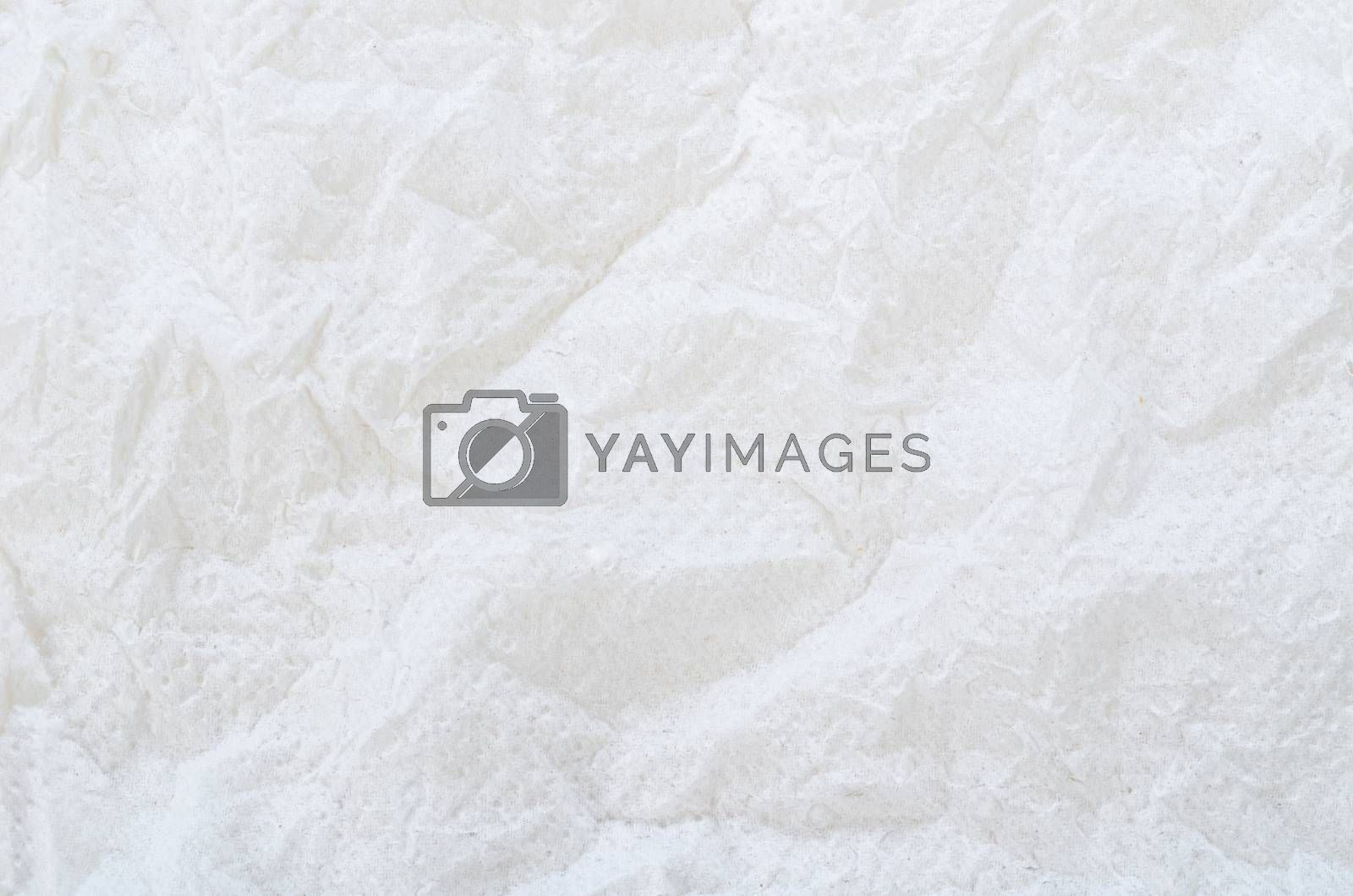 Texture of white tissue paper as background.