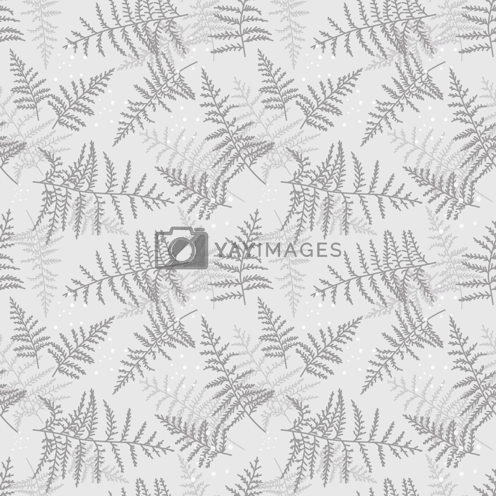 Vector illustration of bracken seamless pattern. Natural background