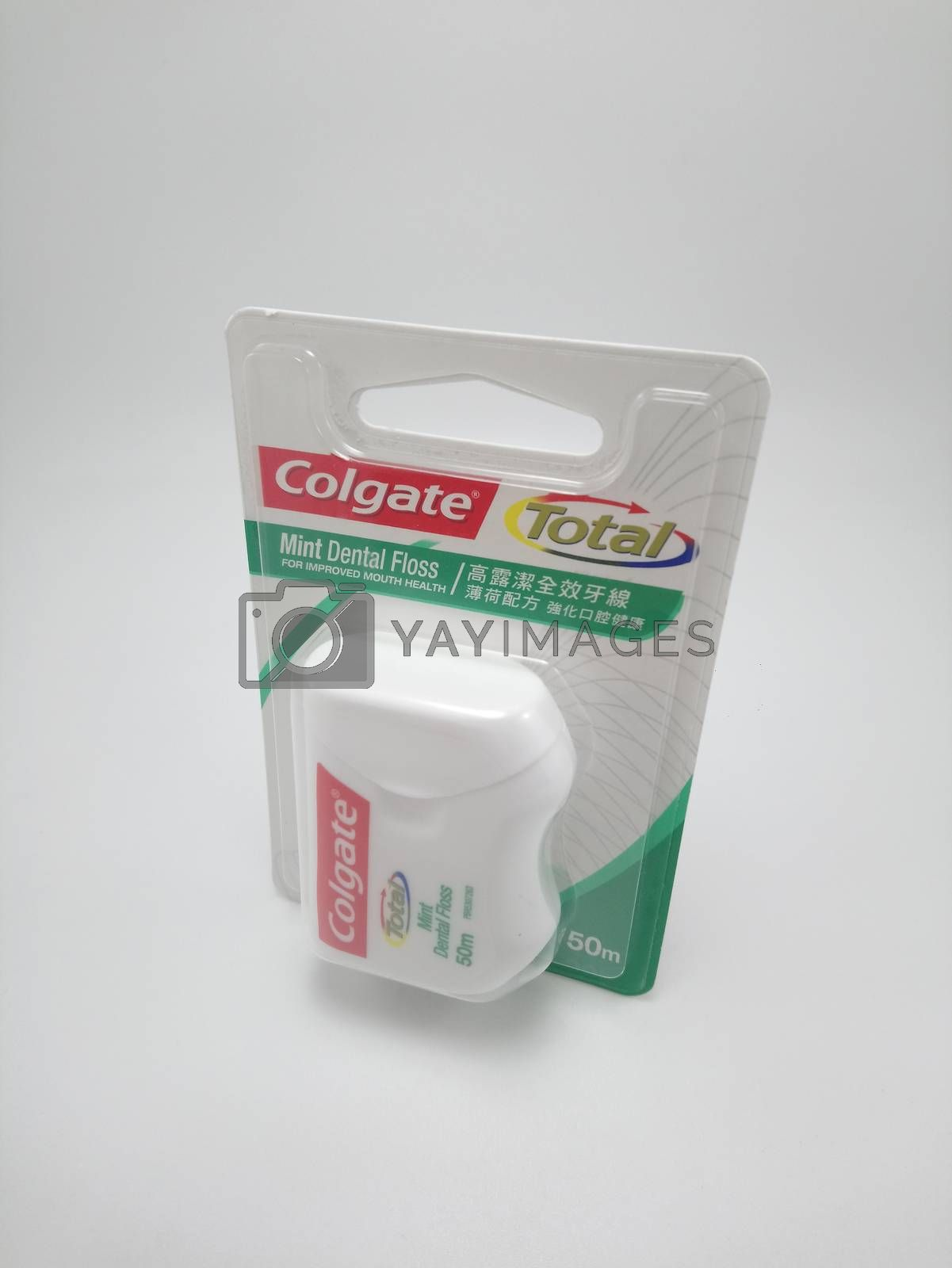Colgate total mint dental floss in Manila, Philippines by imwaltersy