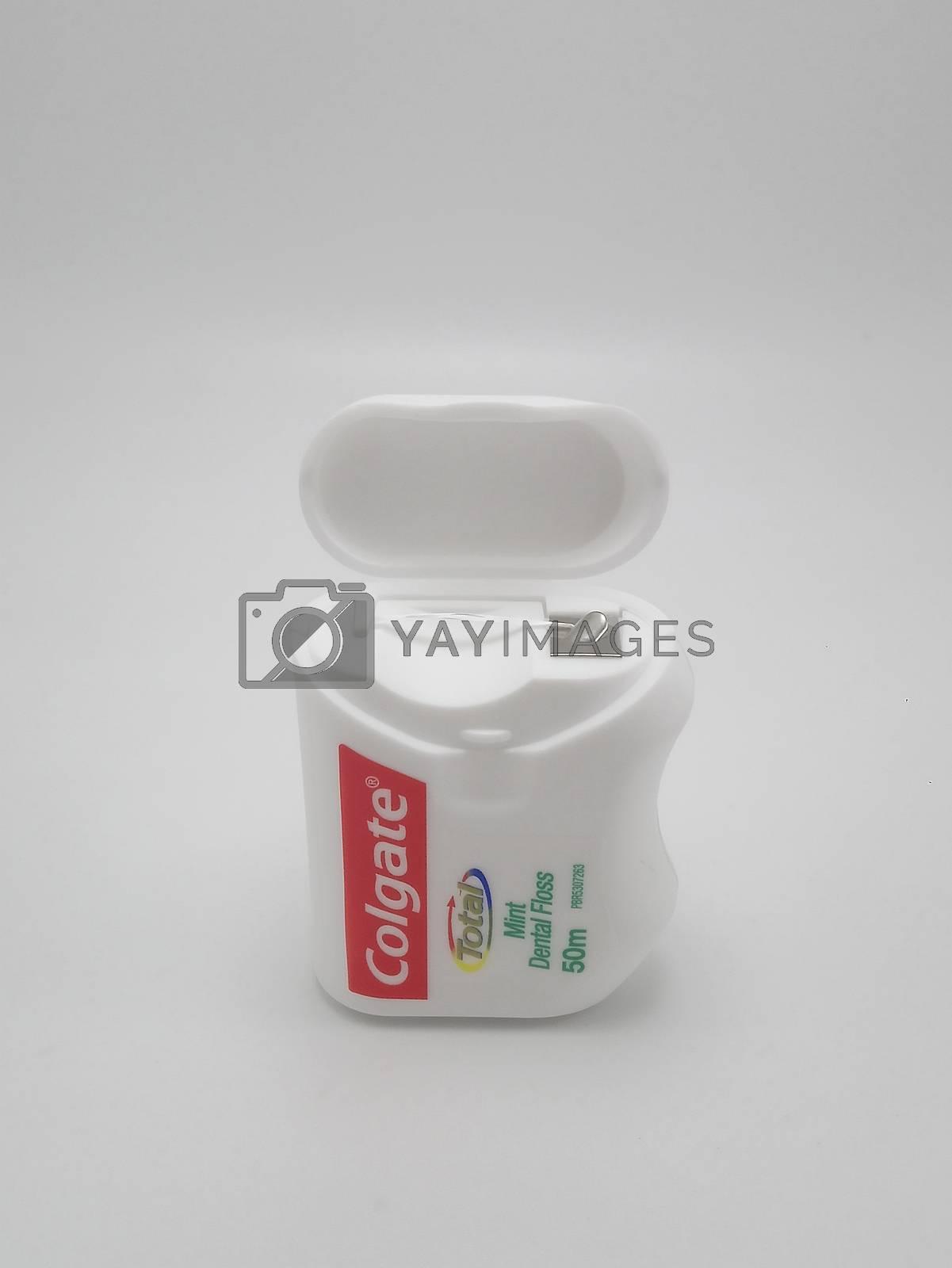 MANILA, PH - SEPT 25 - Colgate total mint dental floss on September 25, 2020 in Manila, Philippines.
