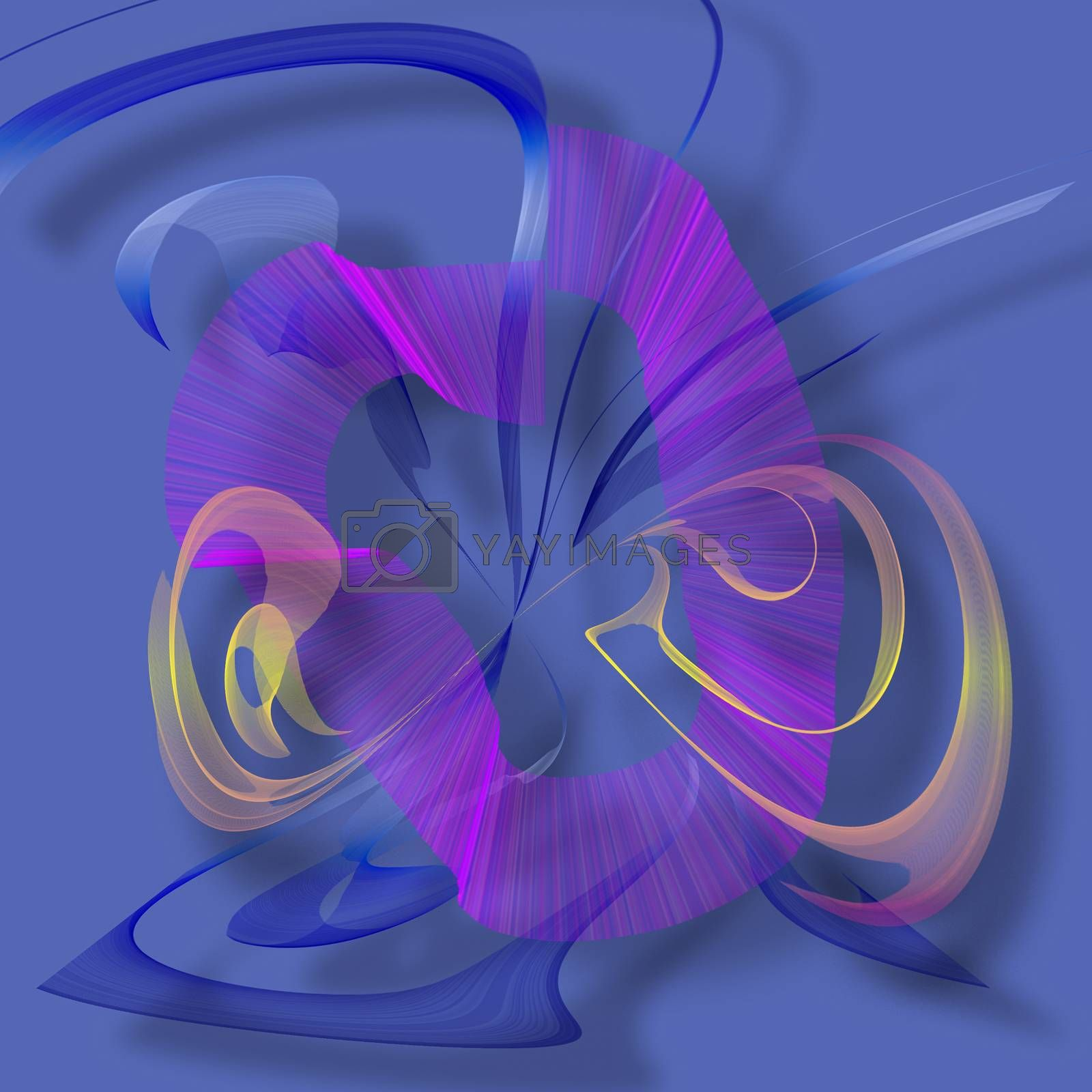 Abstract colorful forms. 3D rendering