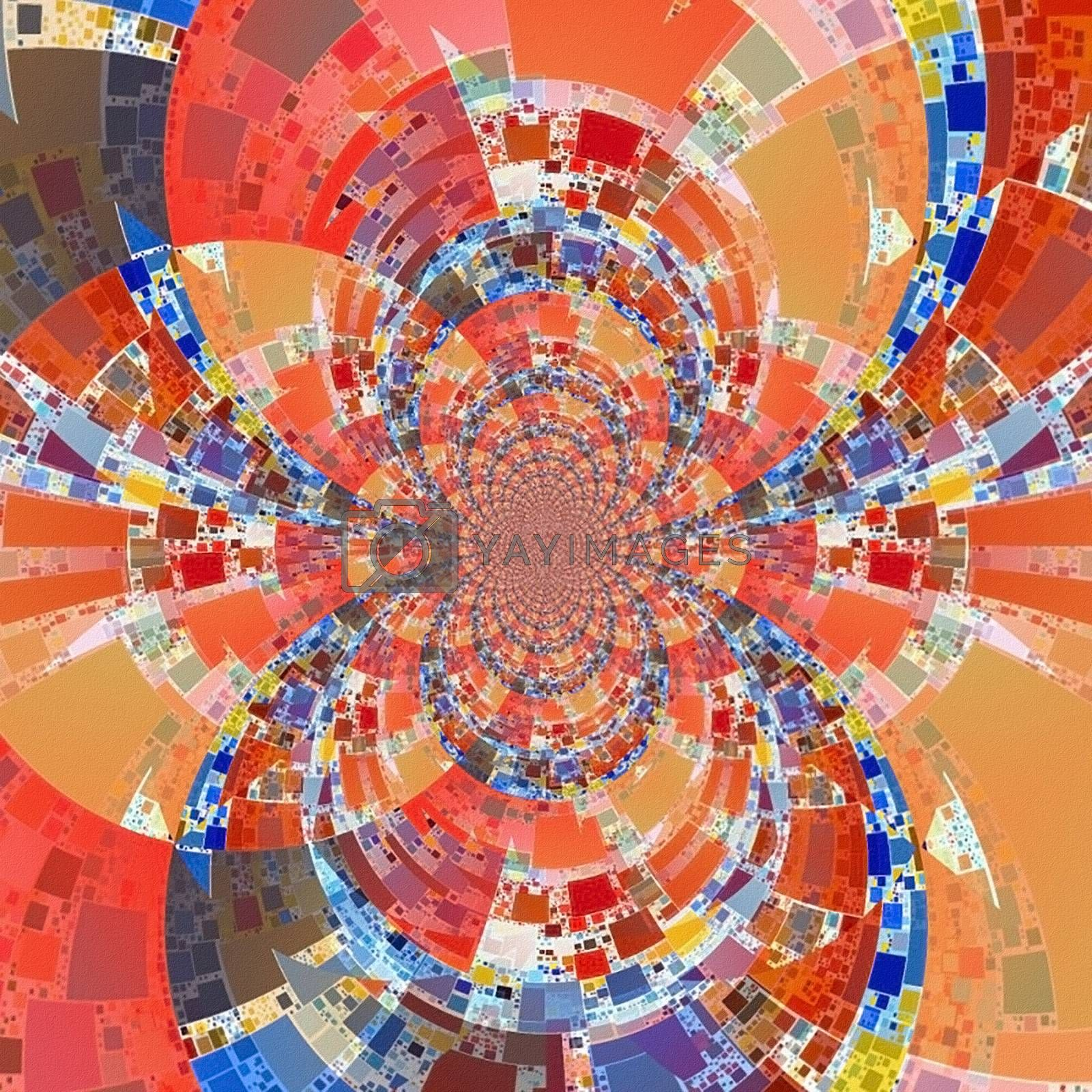 Geometric abstract. Modern fractal pattern. 3D rendering