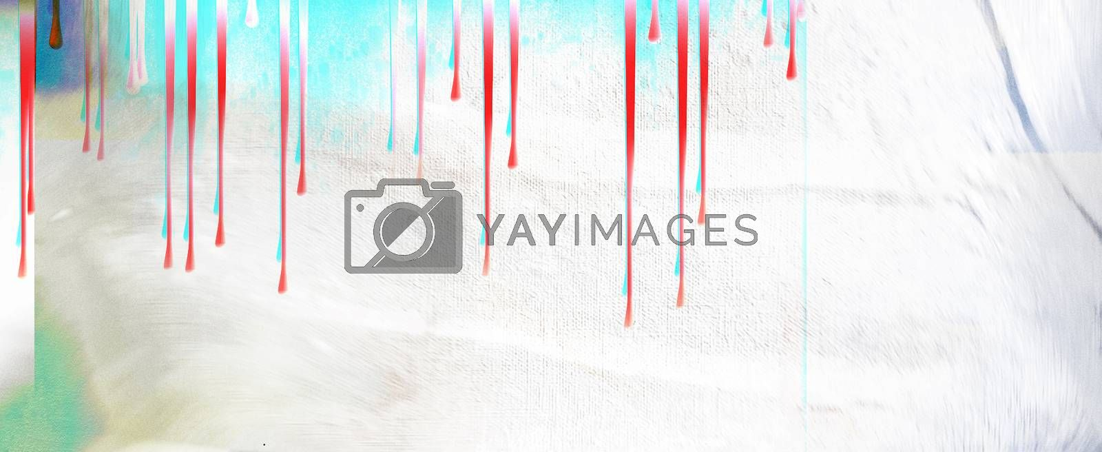 Abstract Painting. Paint Drops. 3D rendering