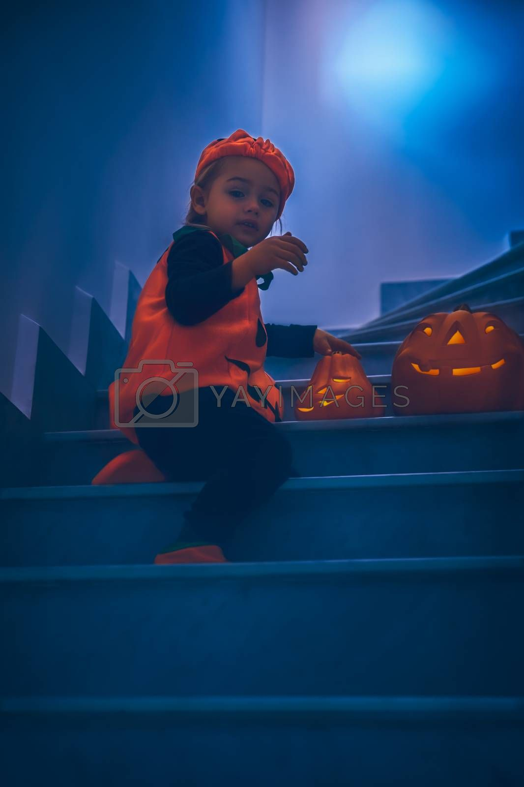 Royalty free image of Baby on Halloween Party by Anna_Omelchenko