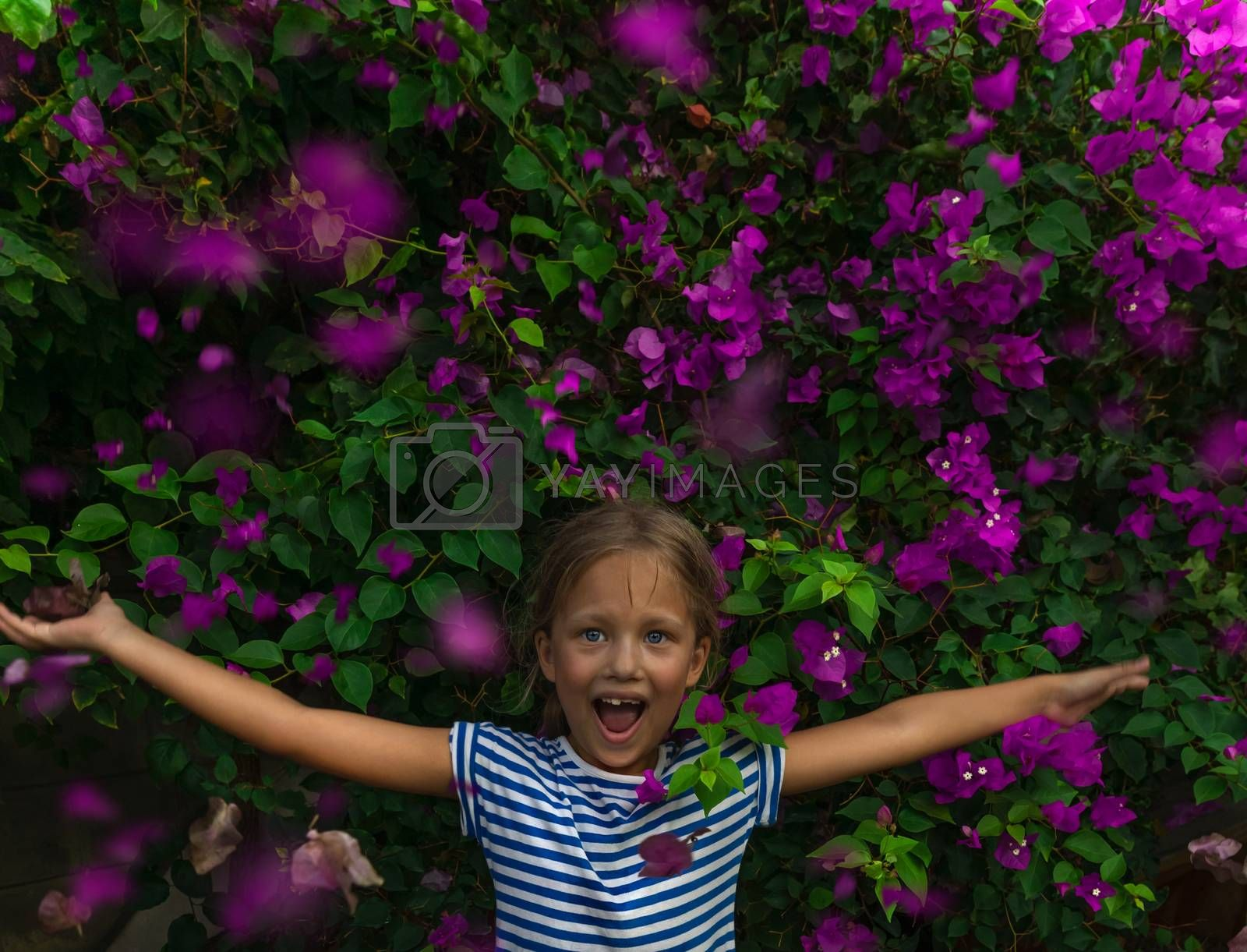 Royalty free image of Little Girl in the Garden by Anna_Omelchenko