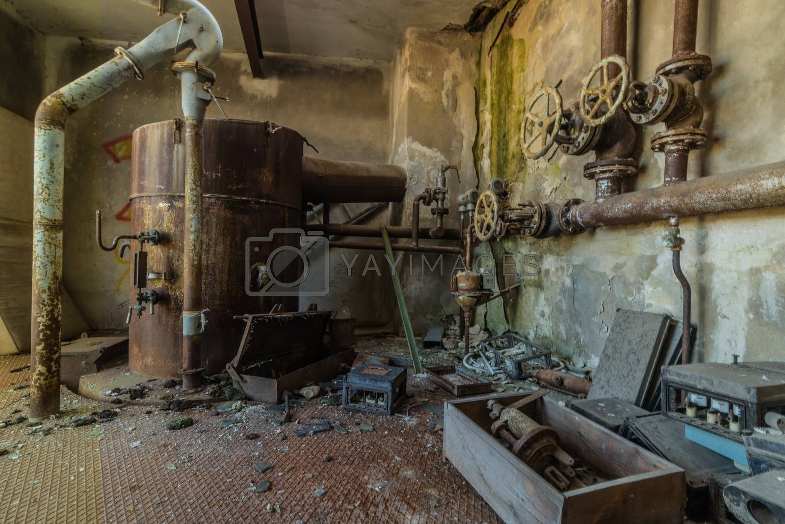 boiler house from an old abandoned factory