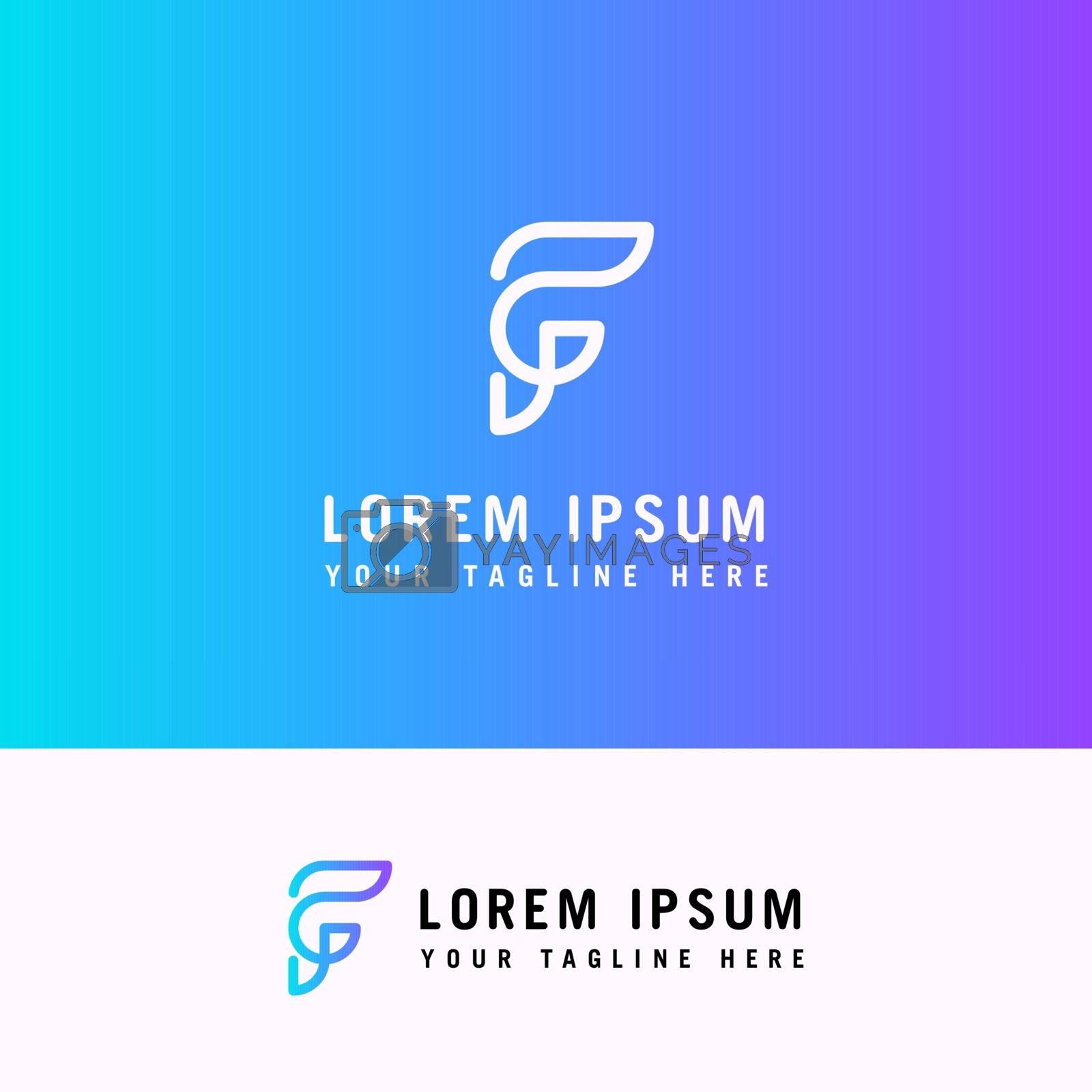 minimal logo design, f letter Logo, minimalist logo template.