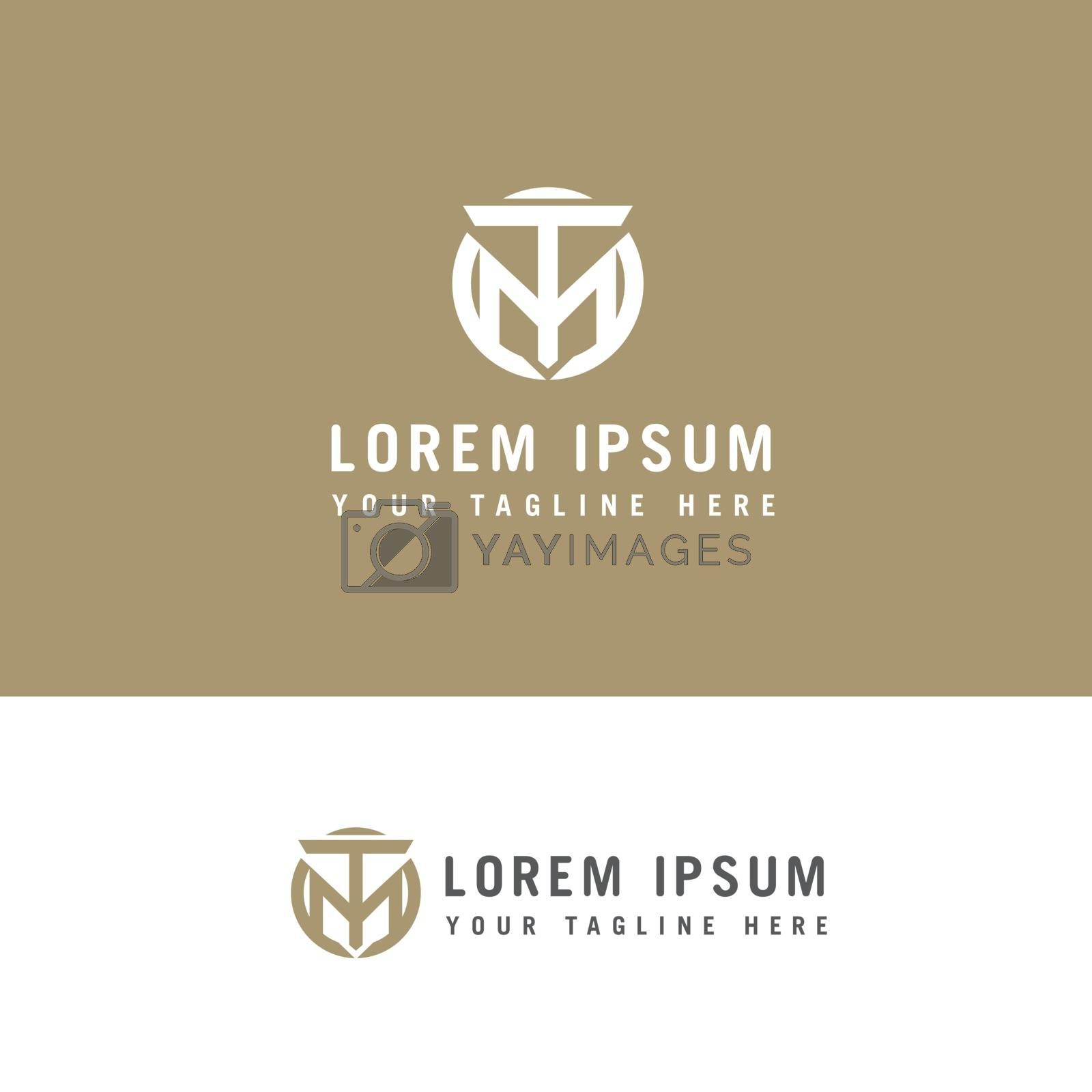 Creative modern stylish connected circular shaped M T initial based letter icon logo.