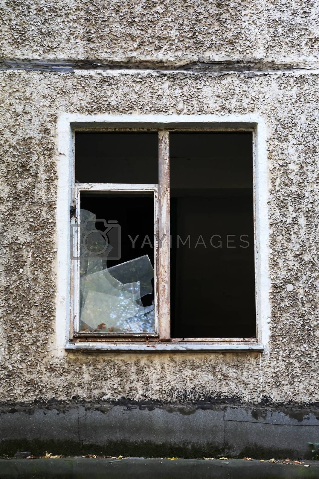 Royalty free image of Building With Shattered Windows by kvkirillov