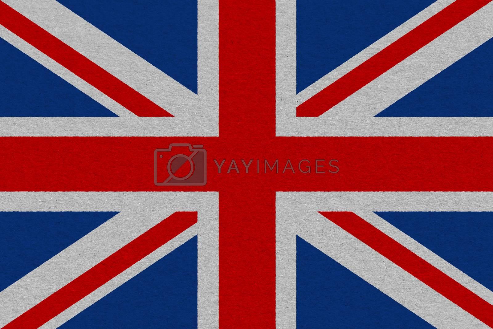 United Kingdom flag painted on paper. Patriotic background. National flag of United Kingdom