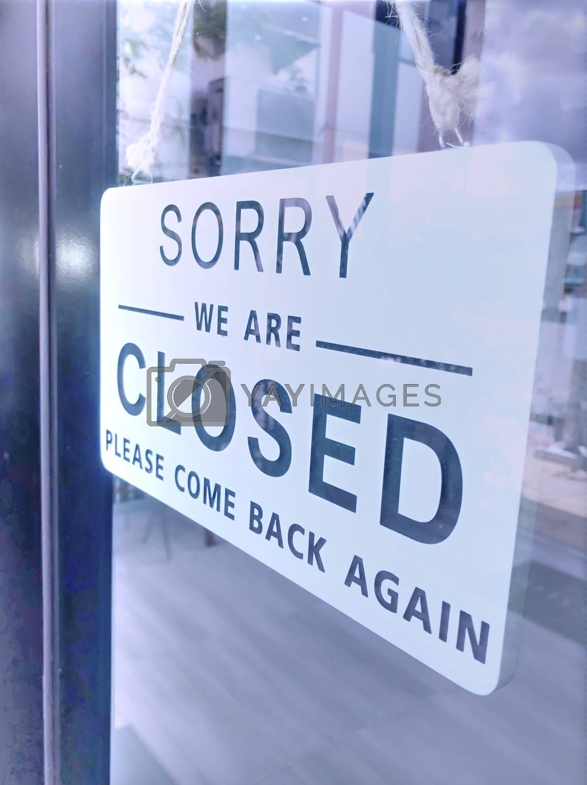 The sign of the coffee shop shows a temporary closure due to the coronavirus outbreak.