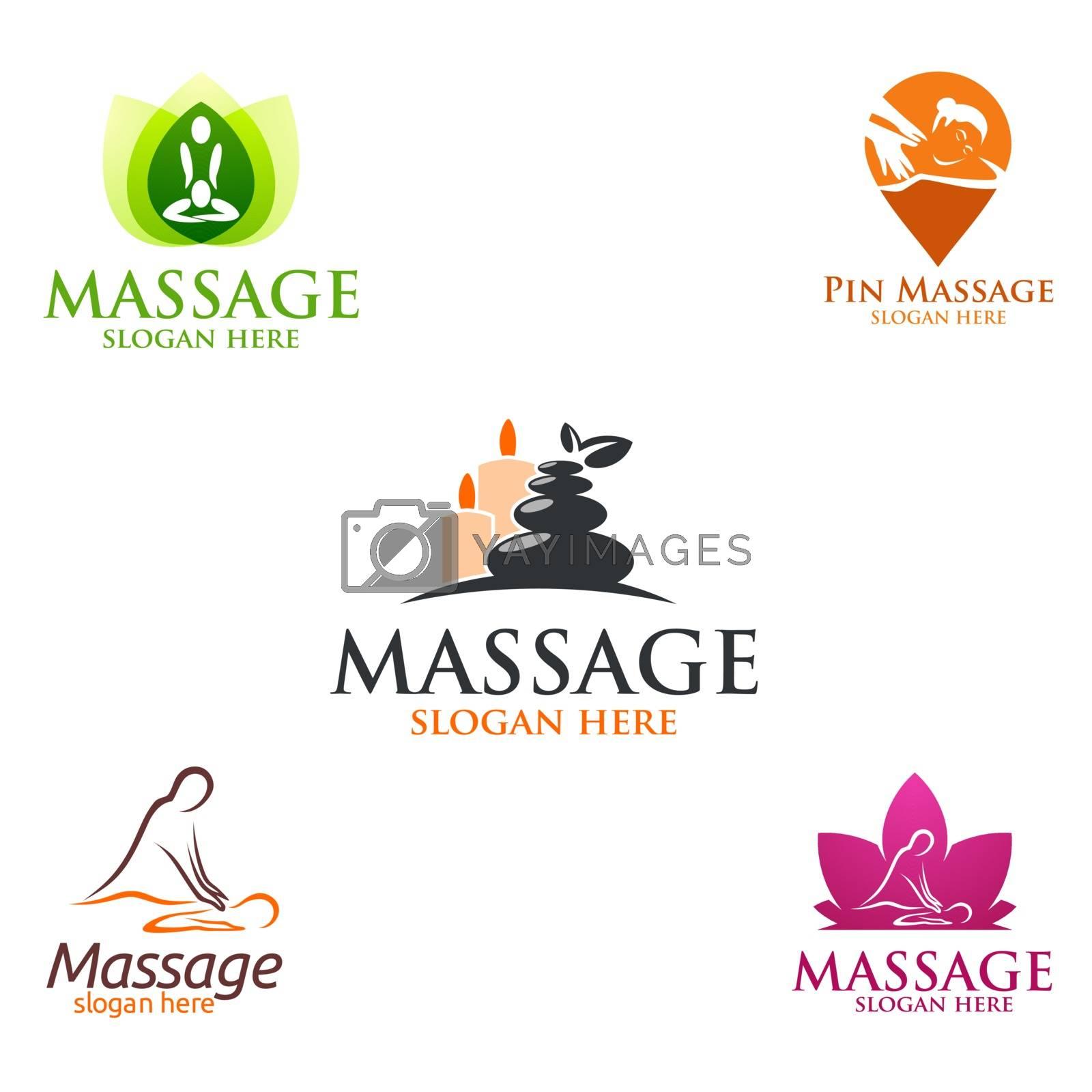 Body Spa Logo, massage, spa, relax, essential oil, white background, vector Logo illustration
