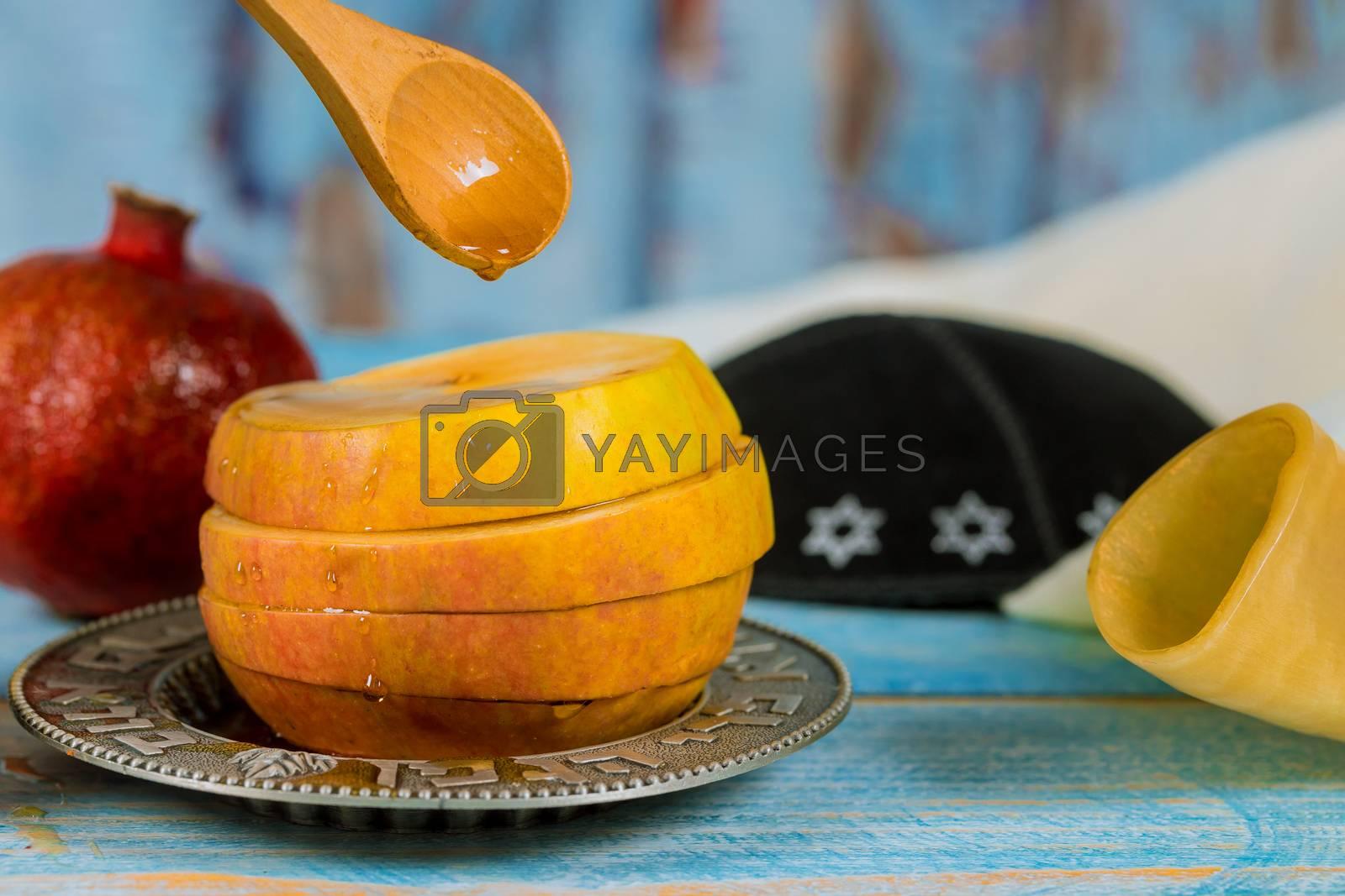 Jewish Holiday Rosh hashanah jewish New Year holiday traditional symbols