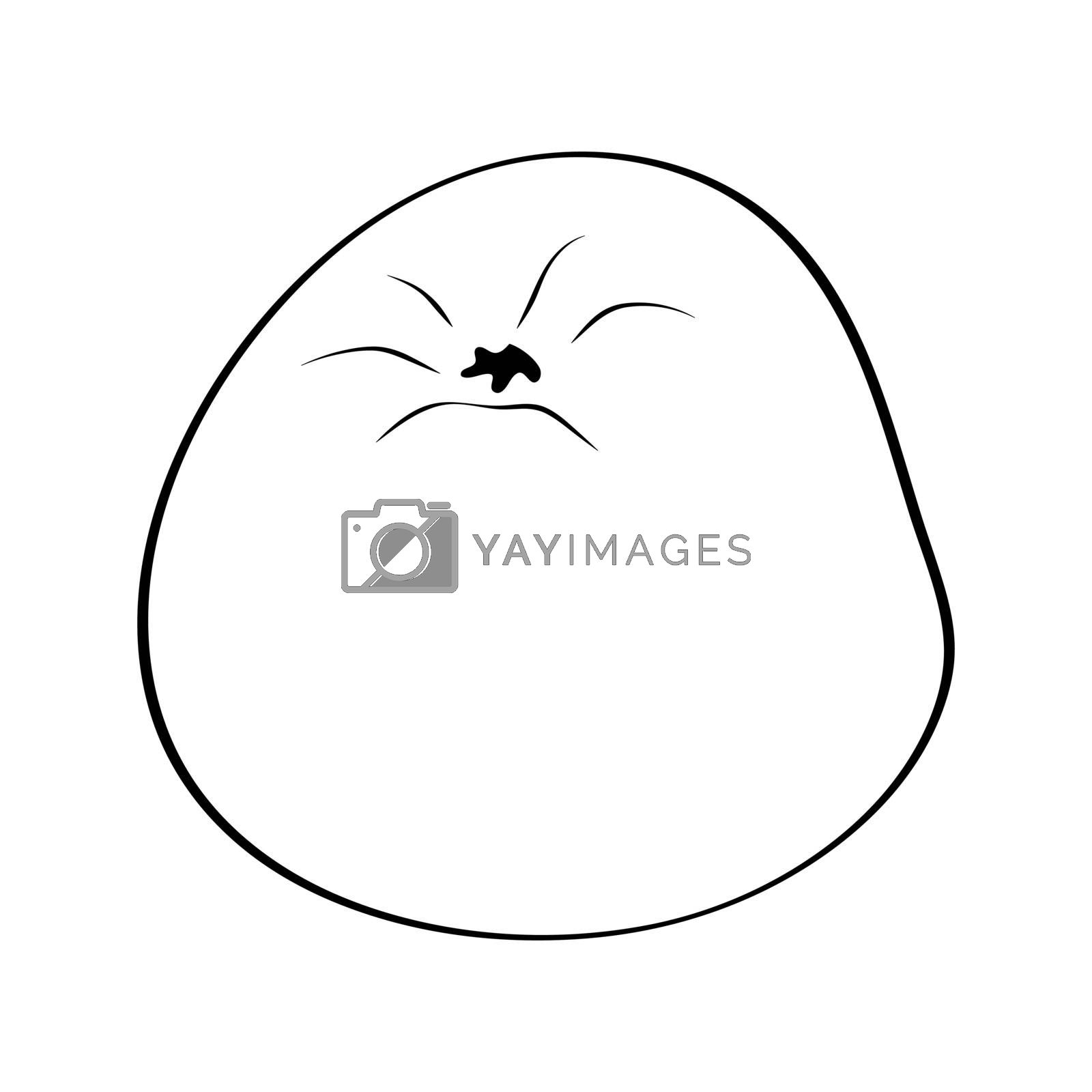 Apple. Hand drawn doodle icon. Vector black and white illustration isolated on white background. Decoration for greeting cards, posters, patches, prints for clothes, emblems.