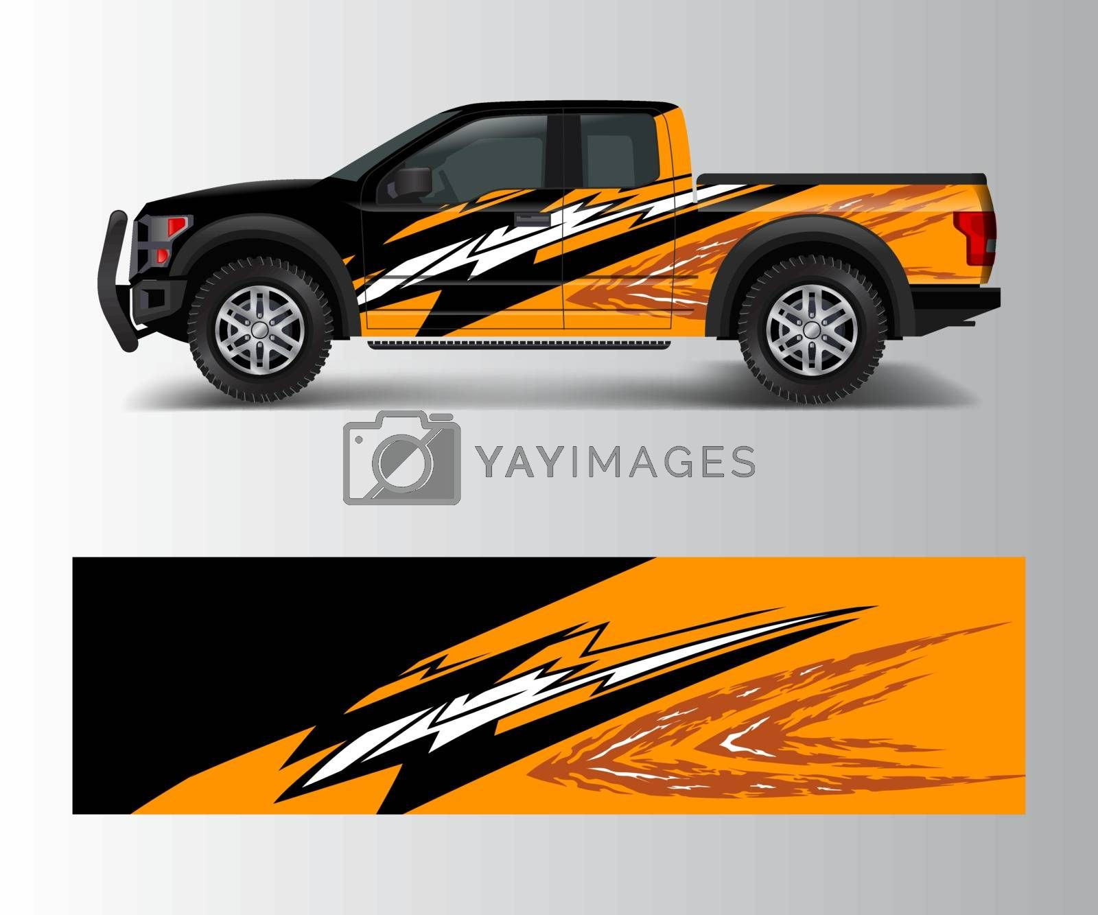 Truck And Vehicle car racing graphic for wrap and vinyl sticker