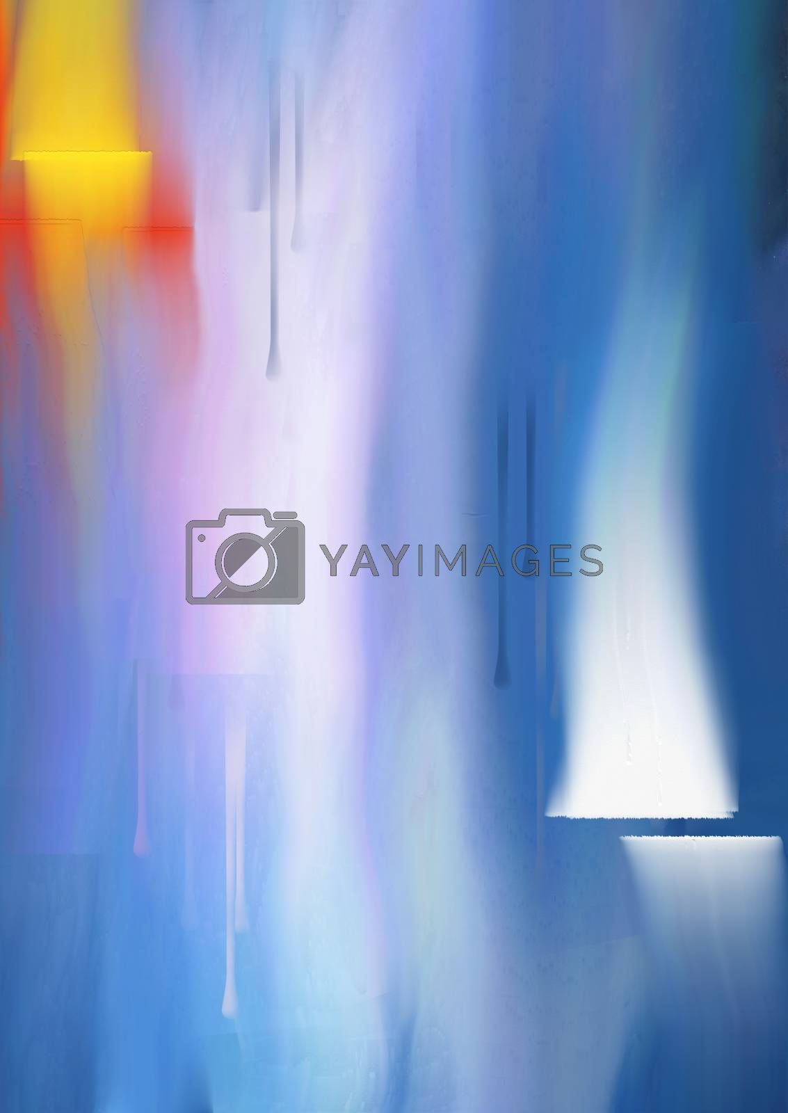 Abstract Soft Painting. 3D rendering