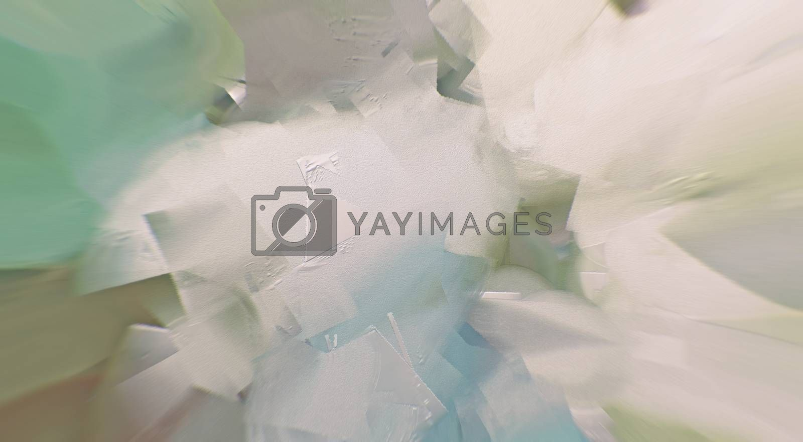 Abstract painting in soft pastel colors. 3D rendering