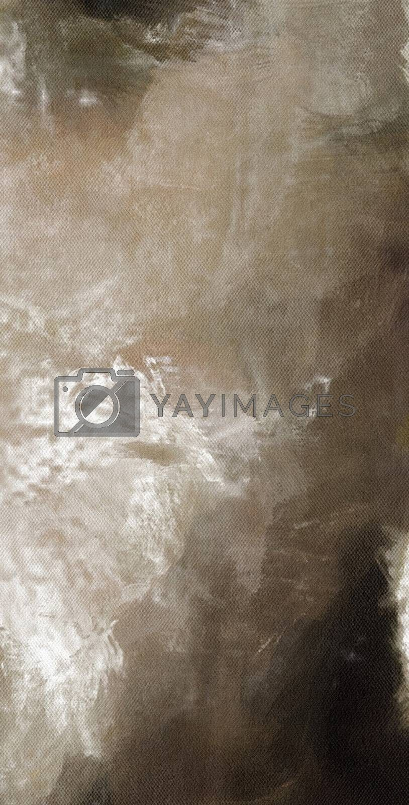 Muted Abstract Canvas. 3D rendering