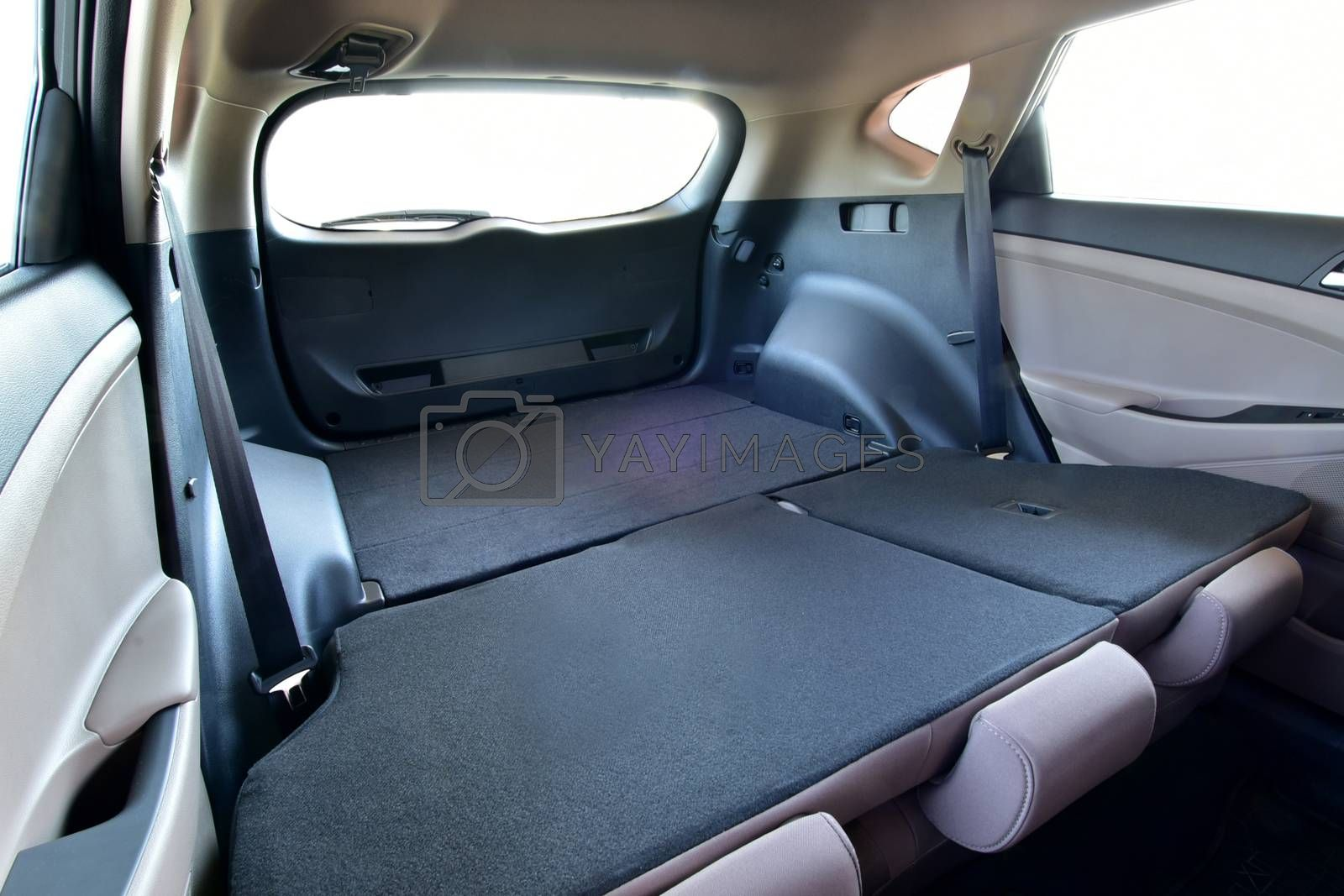 Royalty free image of Car trunk with rear seats folded by aselsa