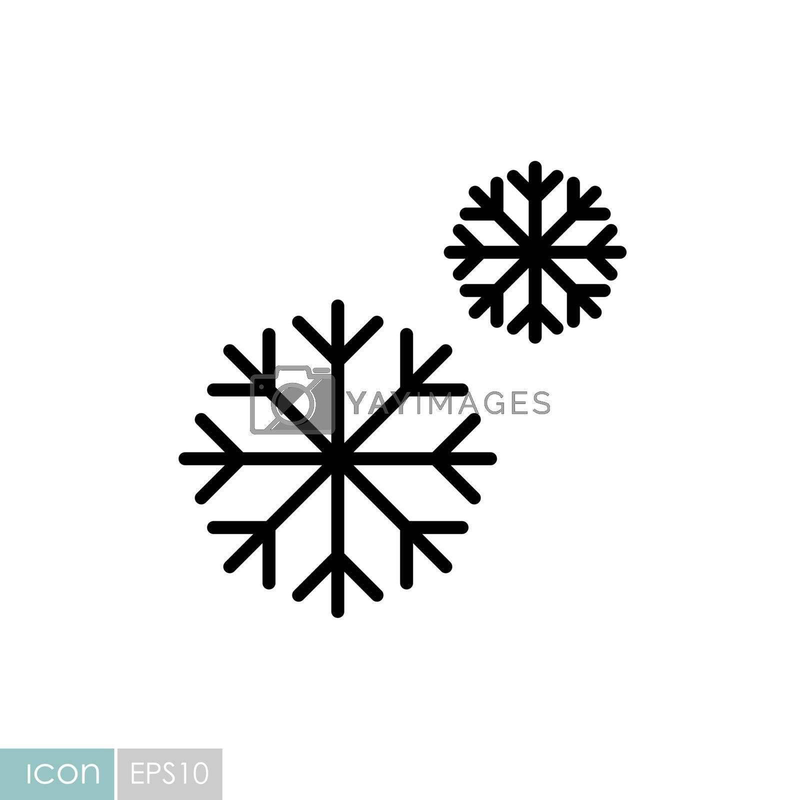 Snowflakes vector icon. Winter sign. Graph symbol for travel and tourism web site and apps design, logo, app, UI