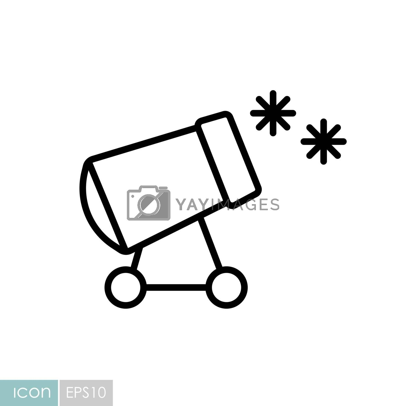 Snow cannon vector icon. Winter sign. Graph symbol for travel and tourism web site and apps design, logo, app, UI