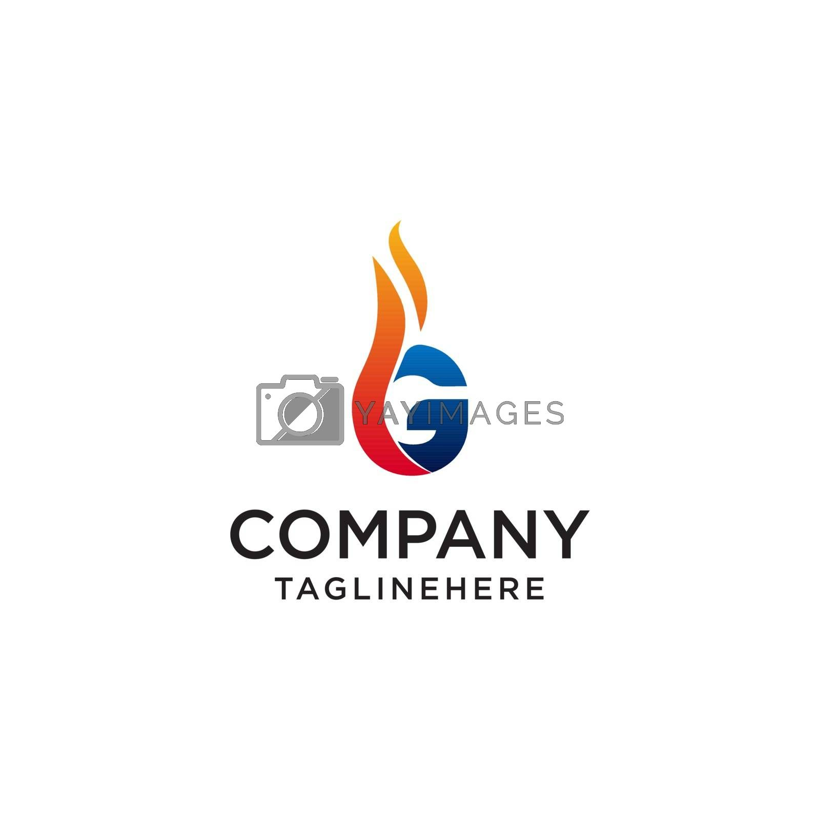 initial Letter G fire logo design. fire company logos, oil companies, mining companies, fire logos, marketing, corporate business logos. icon. vector