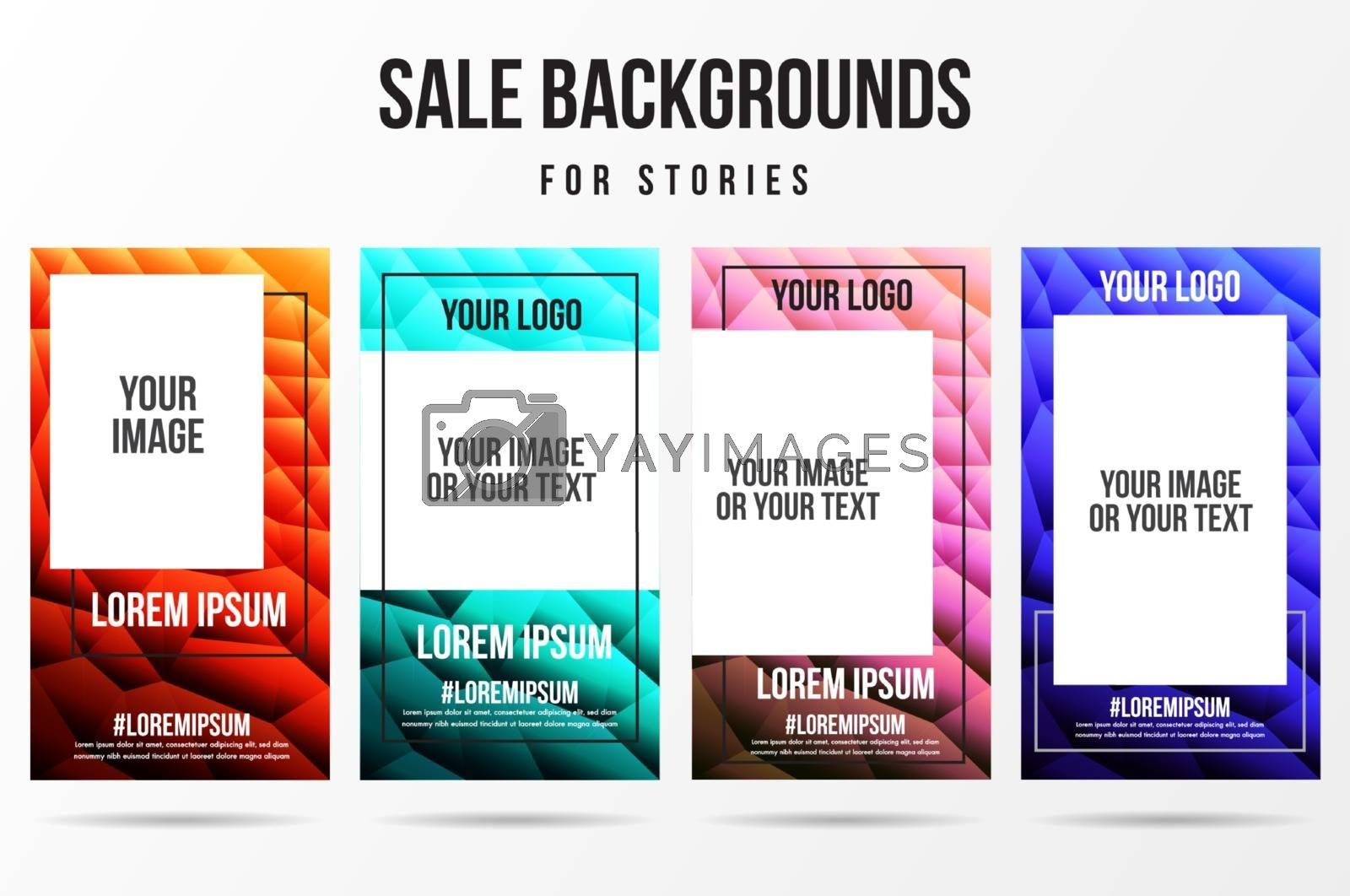 Trendy editable abstract technology background and present product template for social networks story.Cover social media background. Can be use for, website, mobile app, poster, flyer, web design.