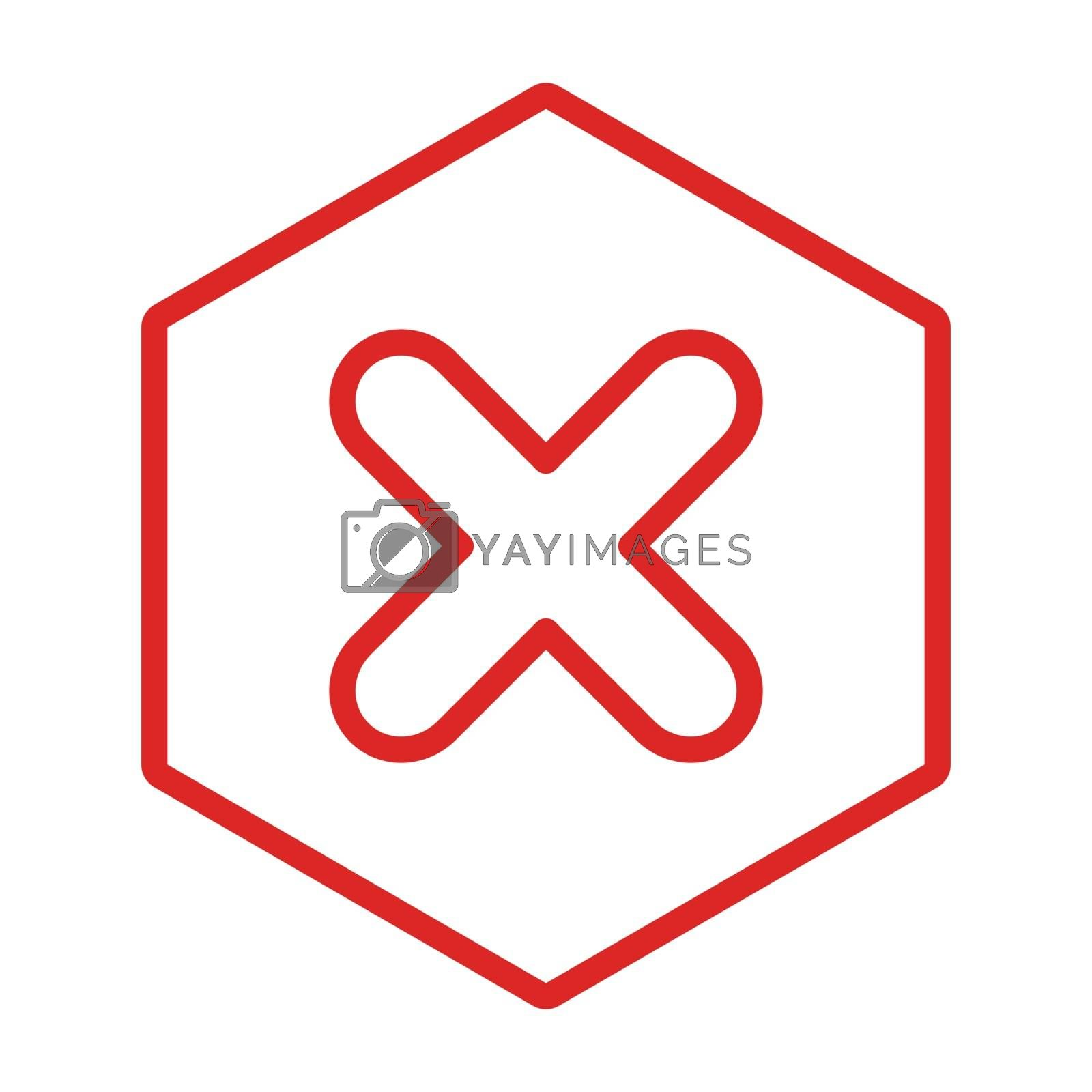 Wrong marks, Cross marks, Rejected, Disapproved, No, False, Not Ok, Wrong Choices, Task Completion, Voting. - vector mark symbols in red. Isolated icon. Flat style vector illustration.