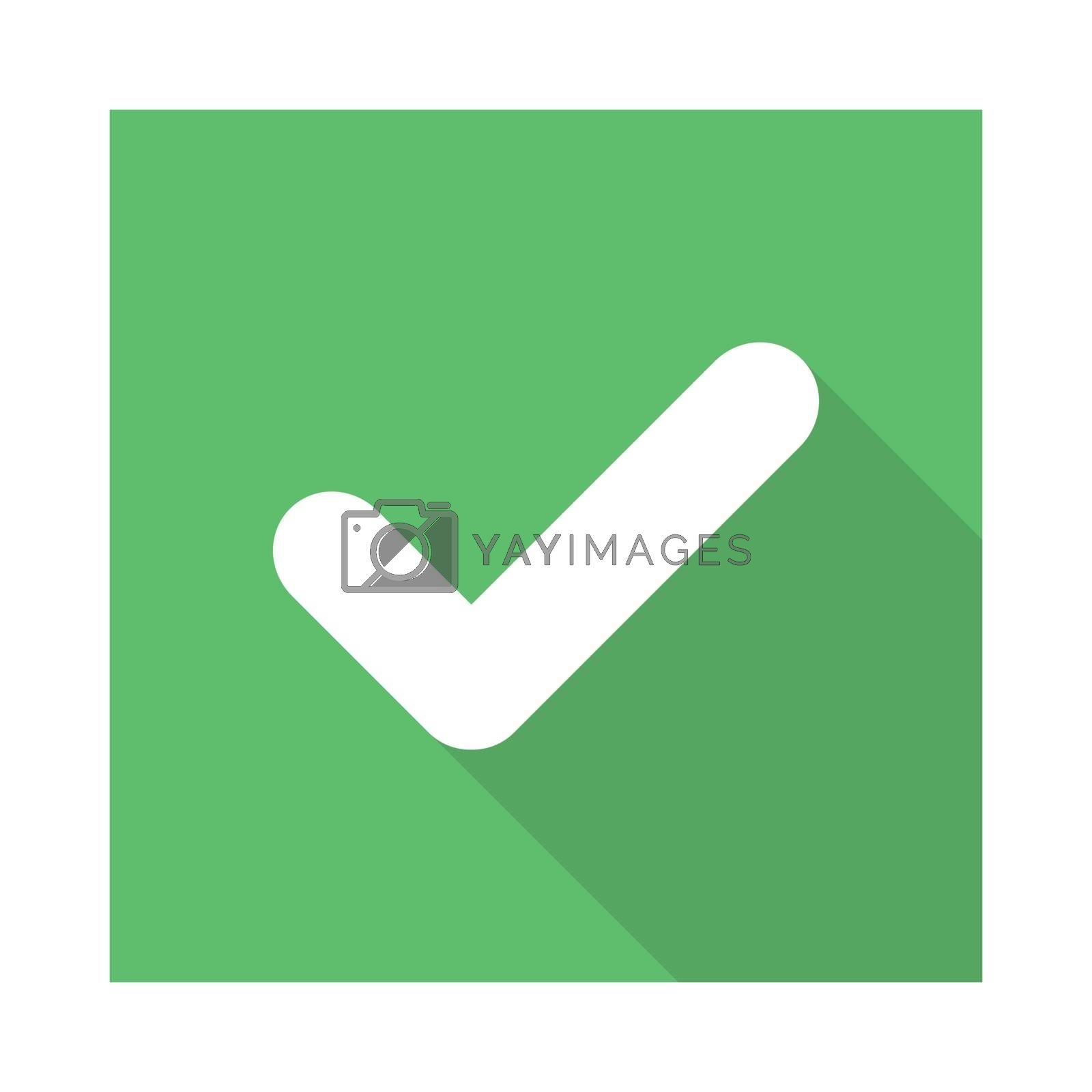 Check marks, Tick marks, Accepted, Approved, Yes, Correct, Ok, Right Choices, Task Completion, Voting. - vector mark symbols in green. Isolated icon. Flat style vector illustration.