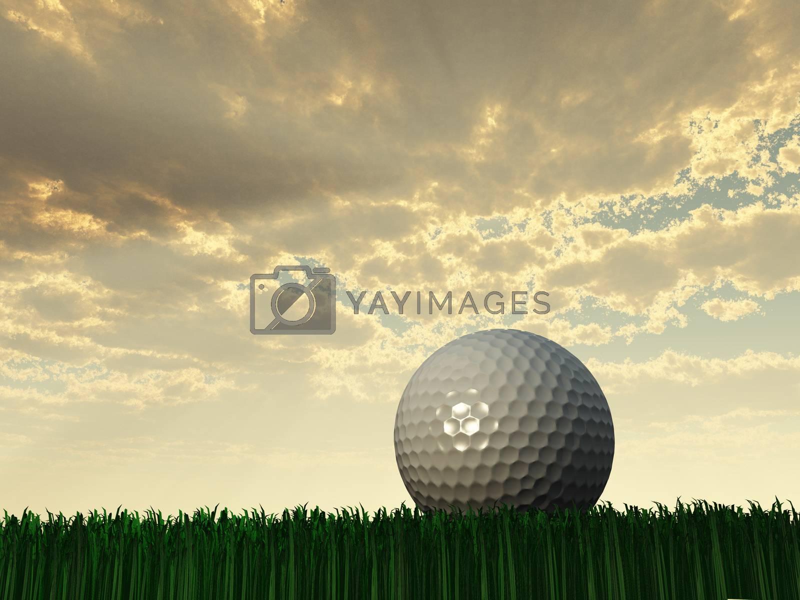 Golf Day Scene. 3D rendering